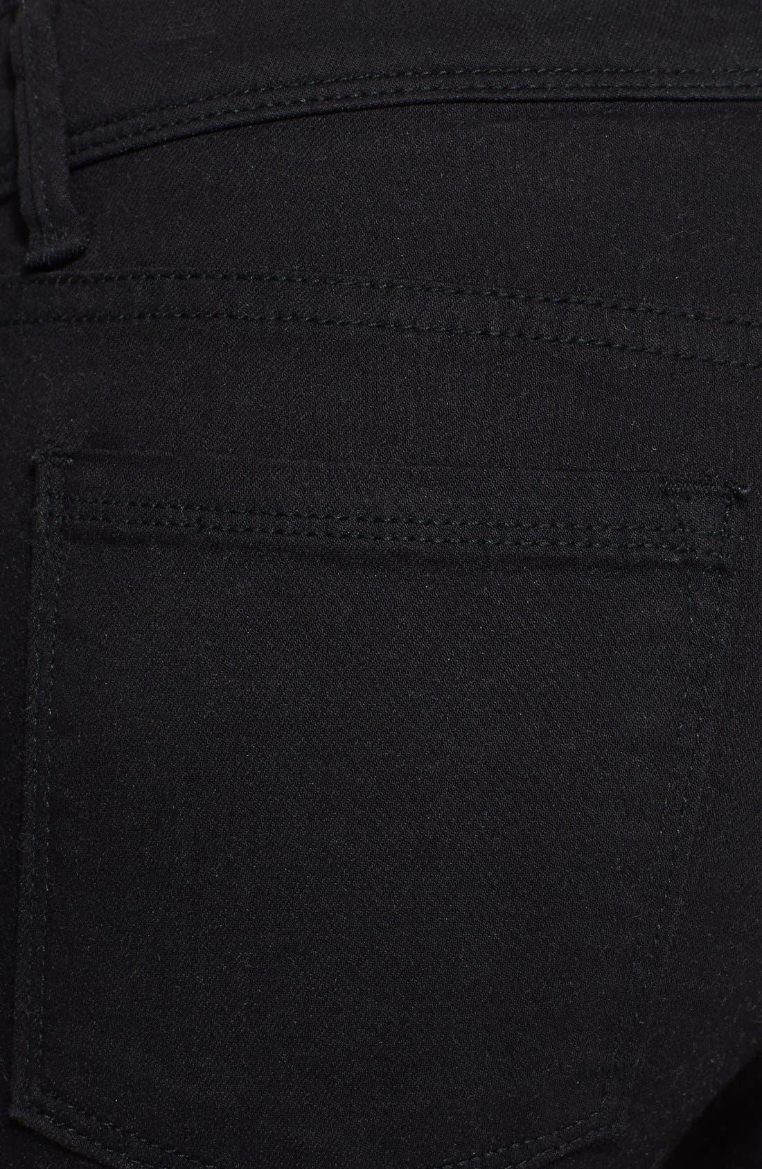 'Roller' Crop Skinny Jeans,                             Alternate thumbnail 3, color,                             Black