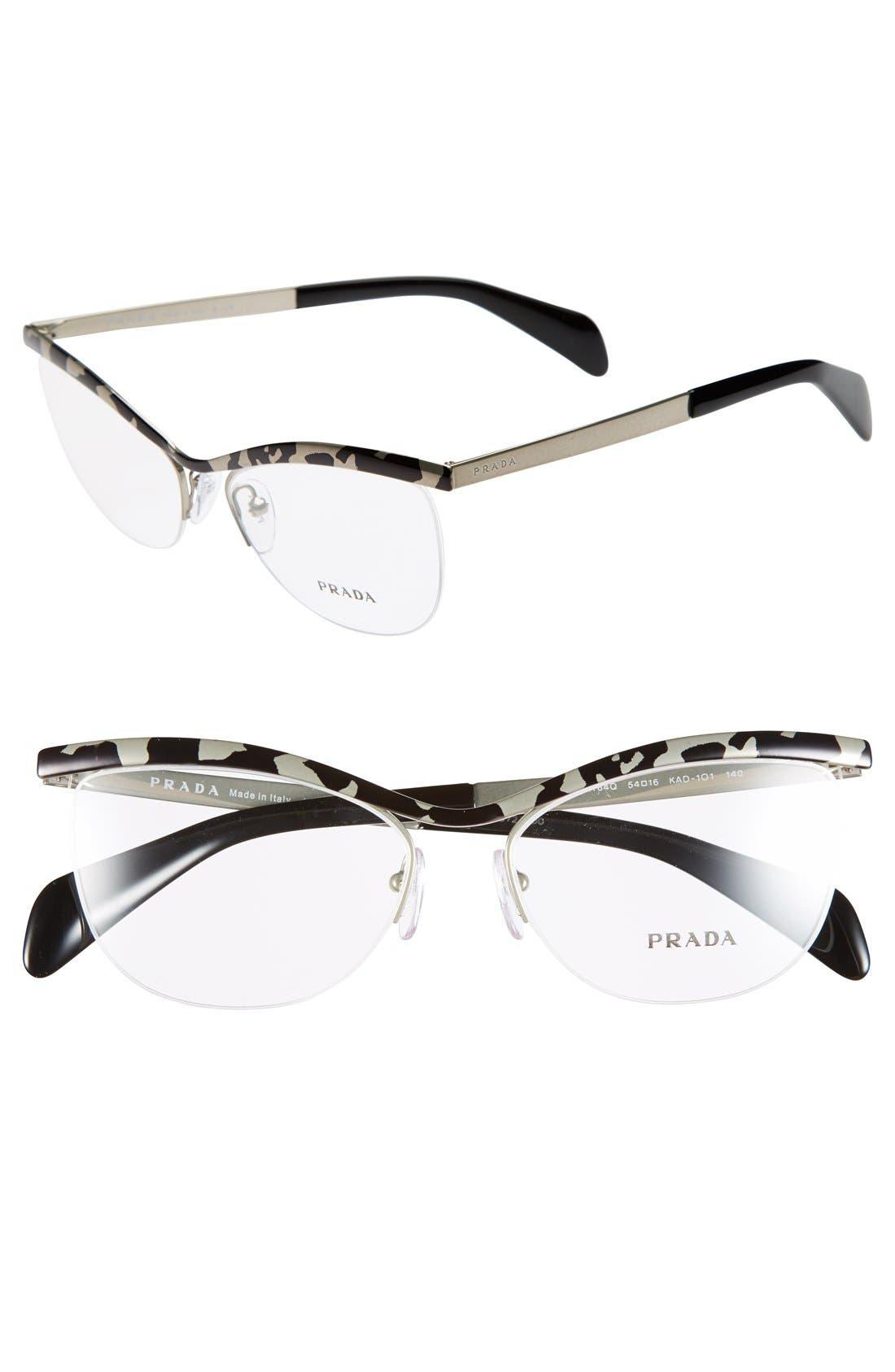 Main Image - Prada 54mm Optical Glasses (Online Only)