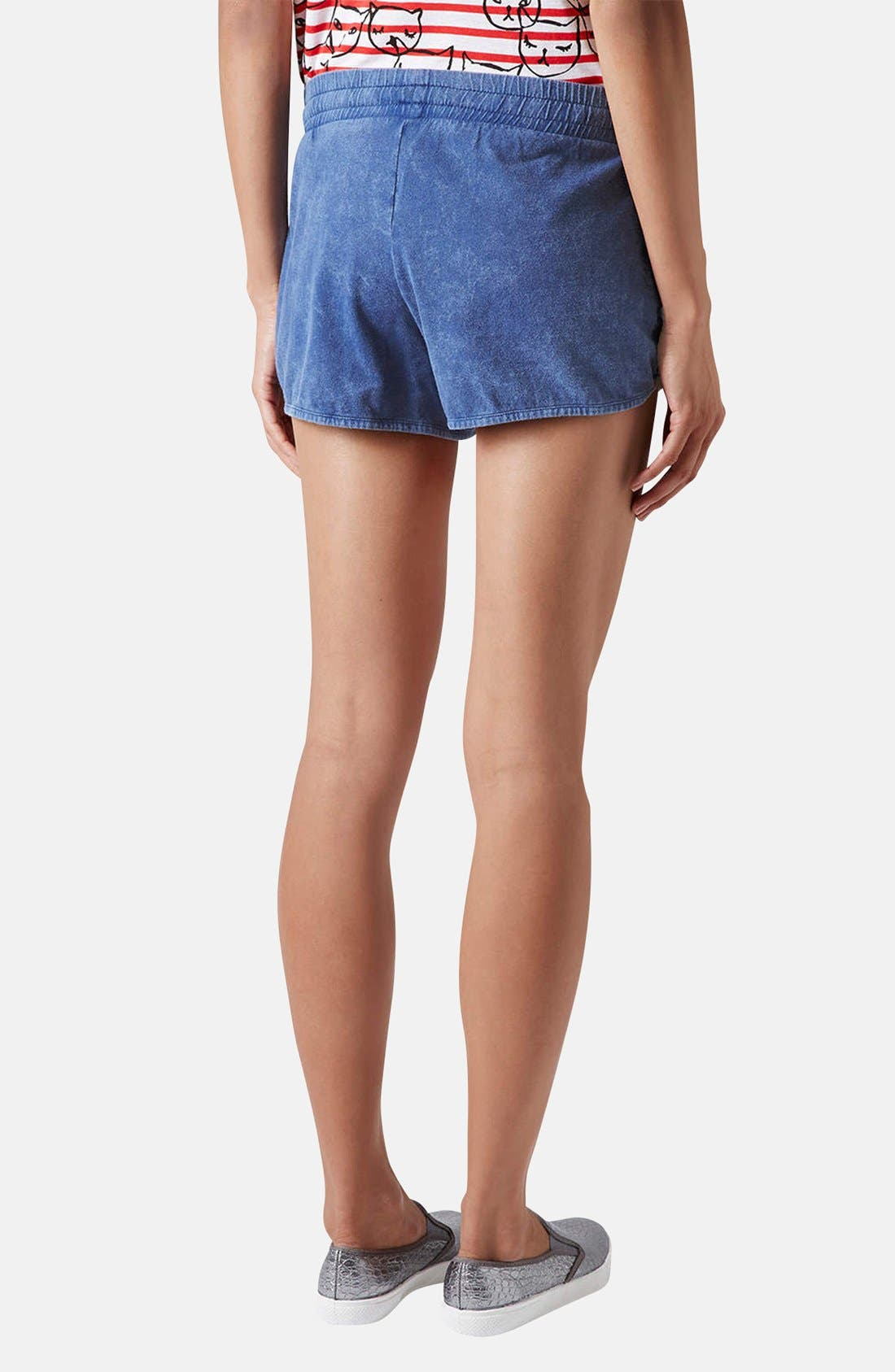 Alternate Image 2  - Topshop Chambray Dolphin Shorts