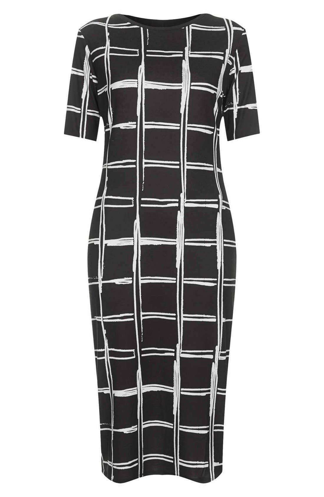 Alternate Image 3  - Topshop Grid Pattern Midi Dress