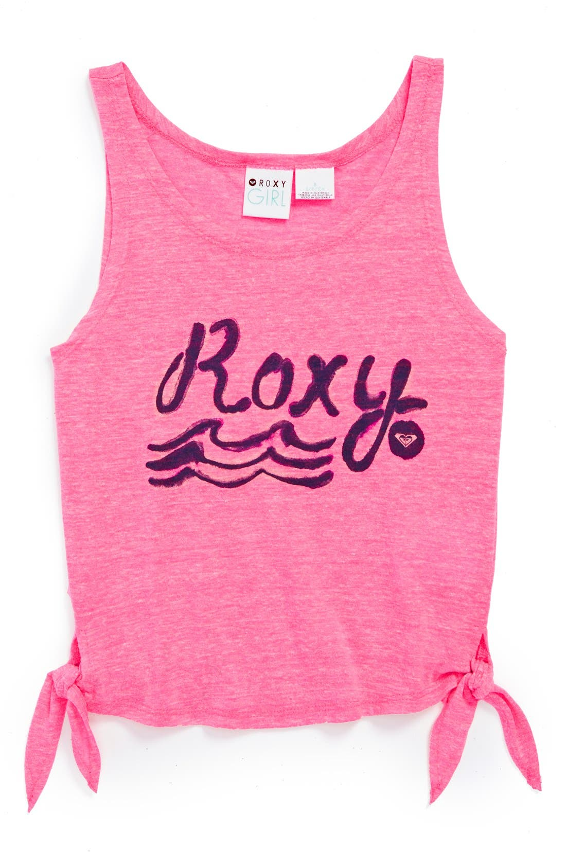 Main Image - Roxy 'From Above' Sleeveless Side Tie Tank Top (Big Girls)(Online Only)