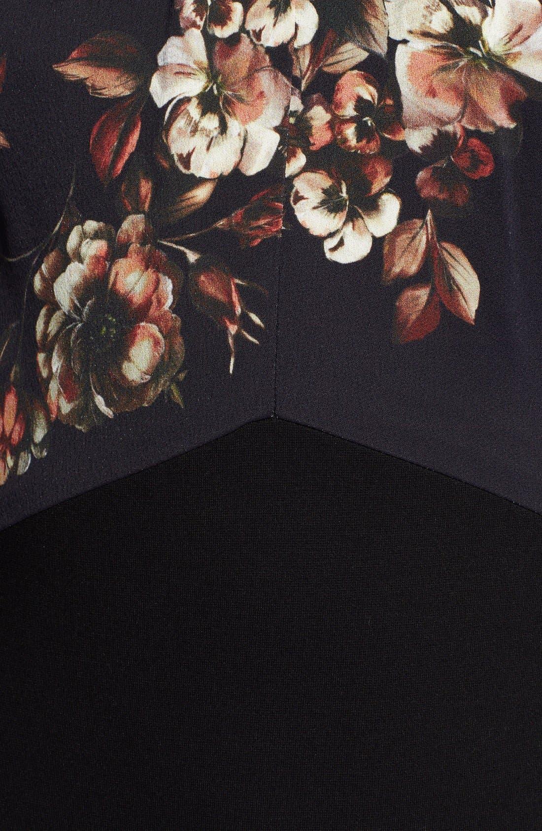 Alternate Image 3  - Jason Wu Print Contrast Knit Midi Dress