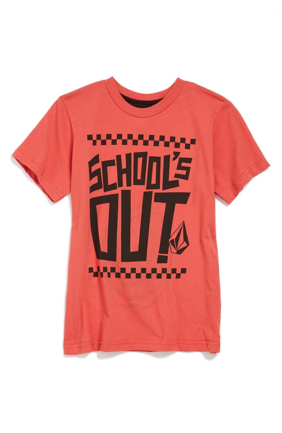 Main Image - Volcom 'School's Out' Screenprint Short Sleeve T-Shirt (Little Boys & Big Boys)