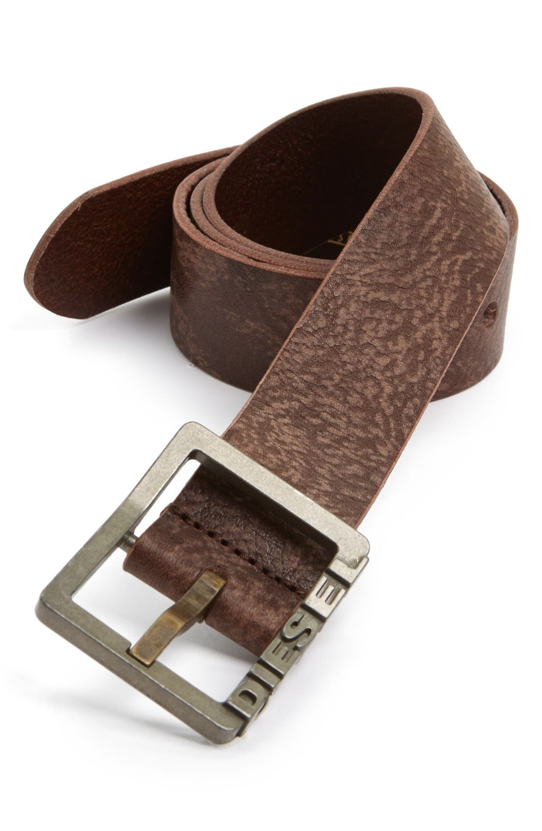 Alternate Image 1 Selected - DIESEL® 'Biflav' Leather Belt