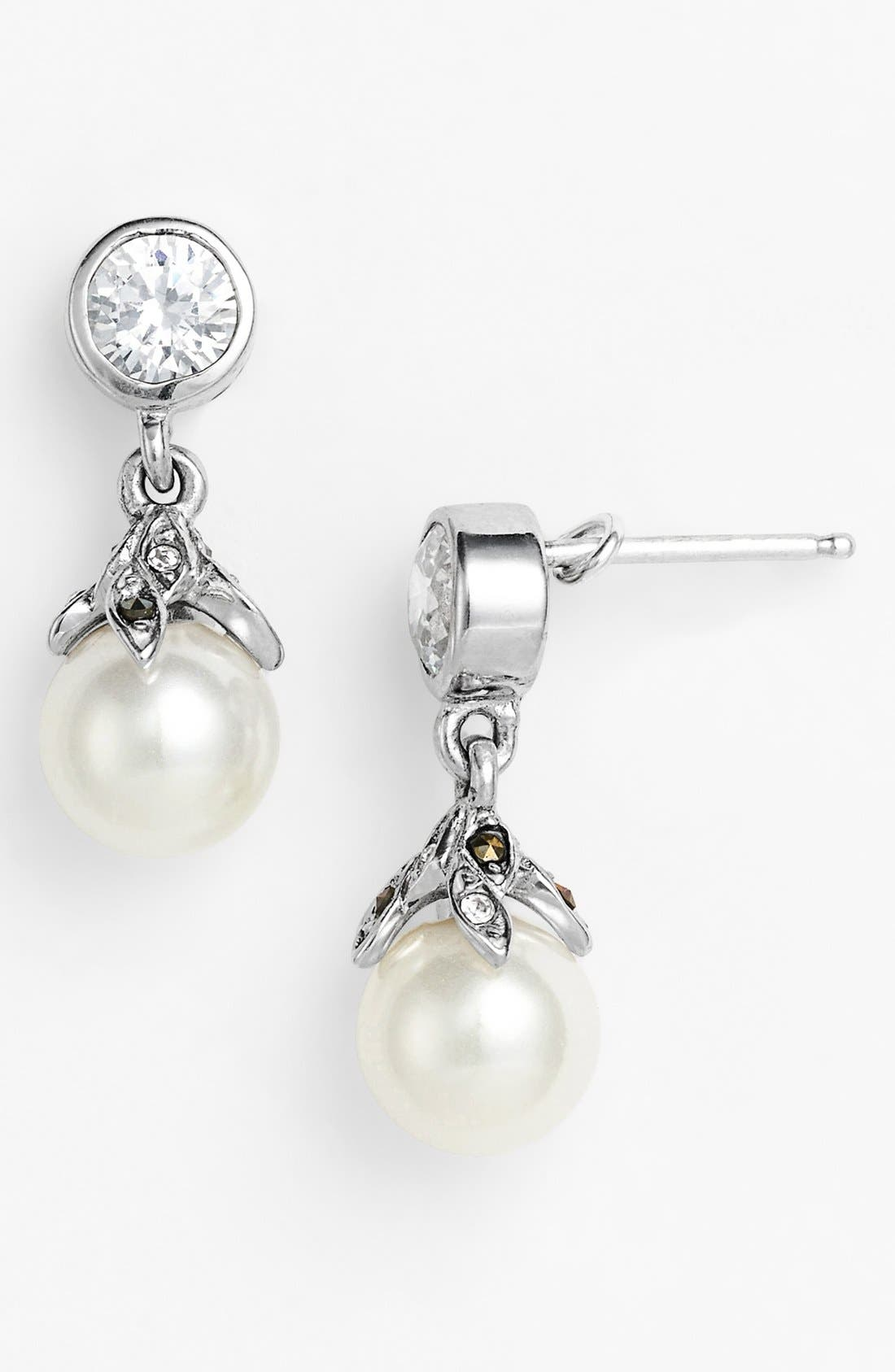 Main Image - Judith Jack 'Pearl Romance' Faux Pearl Drop Earrings