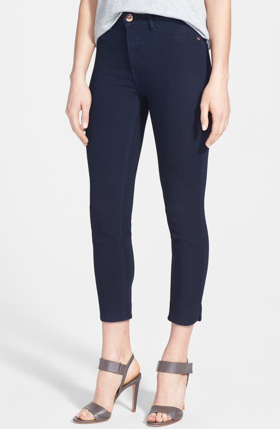 Main Image - DL1961 'Bardot High Rise' Crop Jeans (Flat Iron)