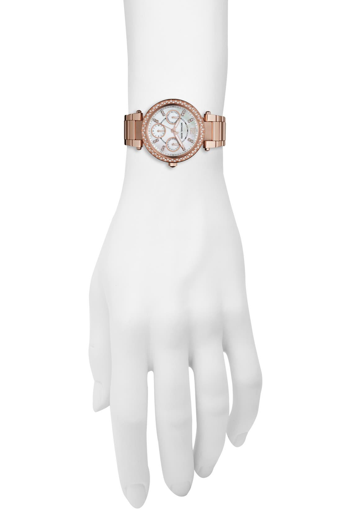 Alternate Image 4  - Michael Kors 'Parker - Mini' Multifunction Watch, 33mm