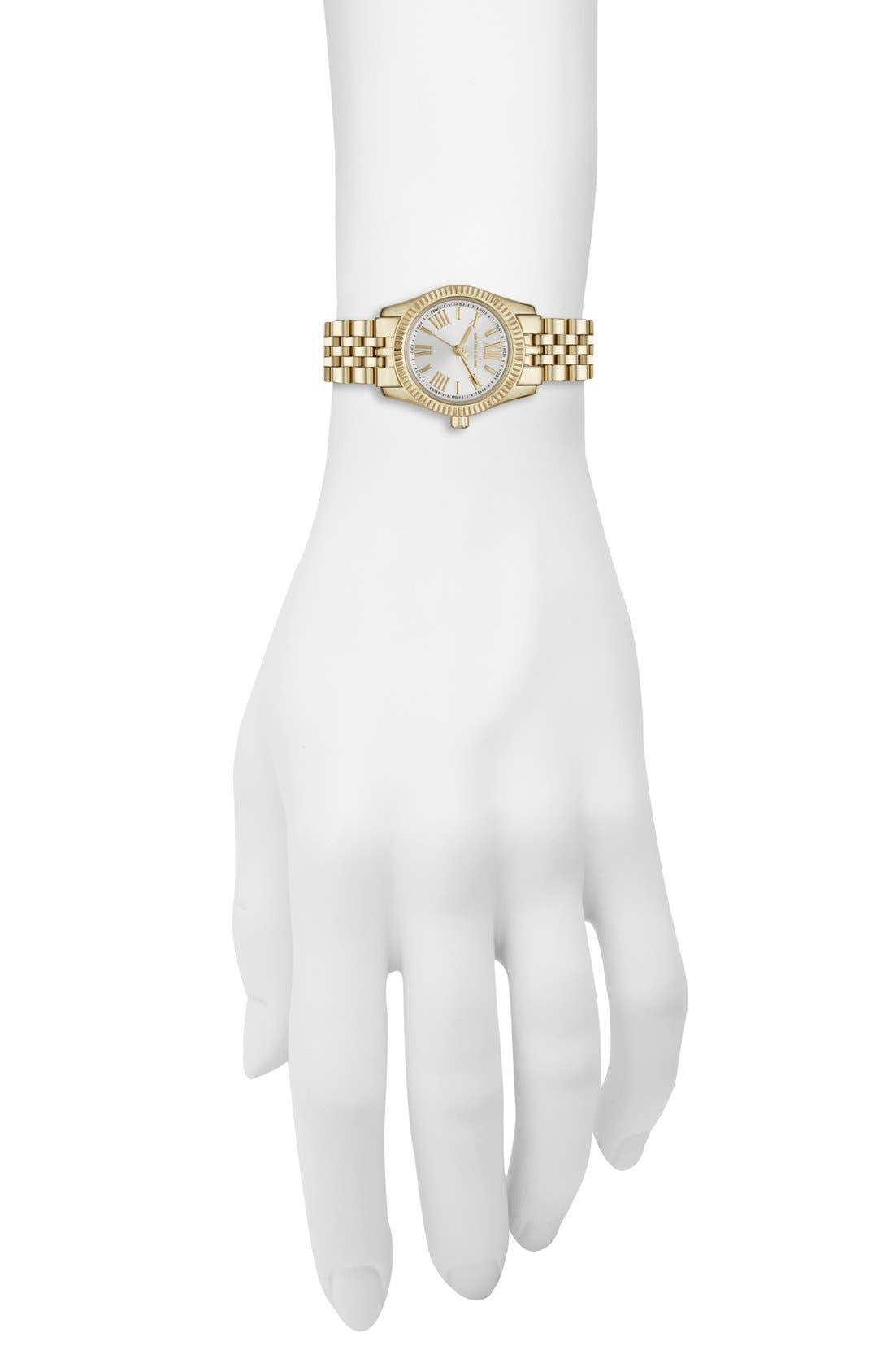 Alternate Image 4  - Michael Kors 'Petite Lexington' Bracelet Watch, 26mm