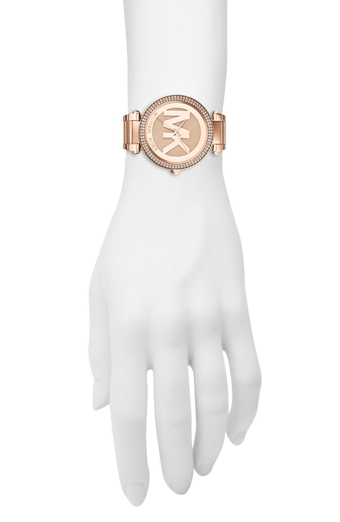 Alternate Image 4  - Michael Kors Parker Logo Dial Bracelet Watch, 39mm