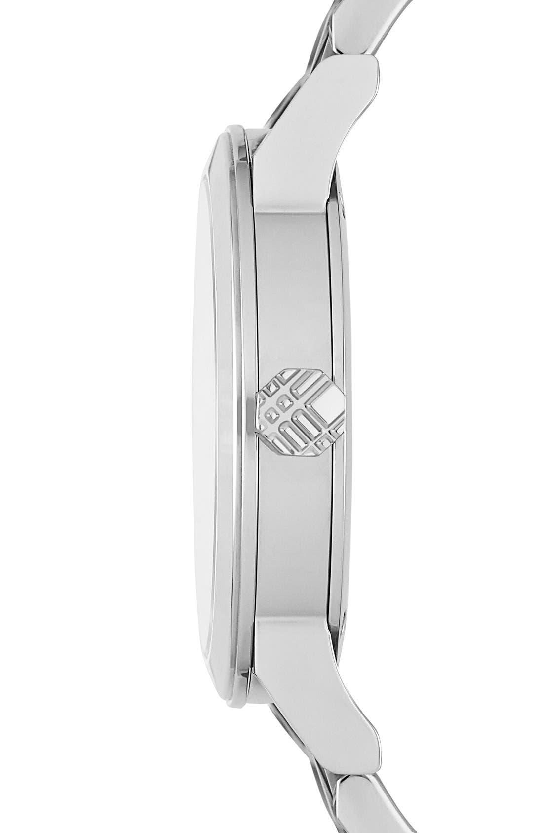 Alternate Image 4  - Burberry Check Stamped Bracelet Watch, 34mm