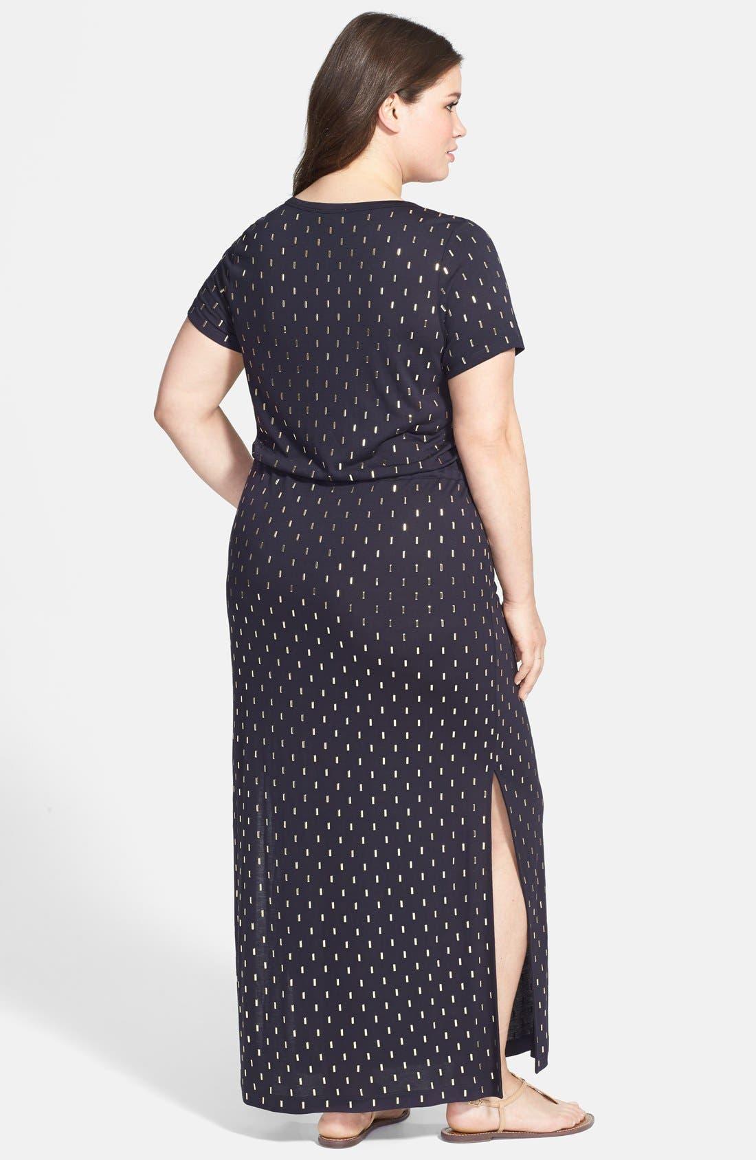 Alternate Image 2  - MICHAEL Michael Kors Studded Drawstring Waist Maxi Dress (Plus Size)