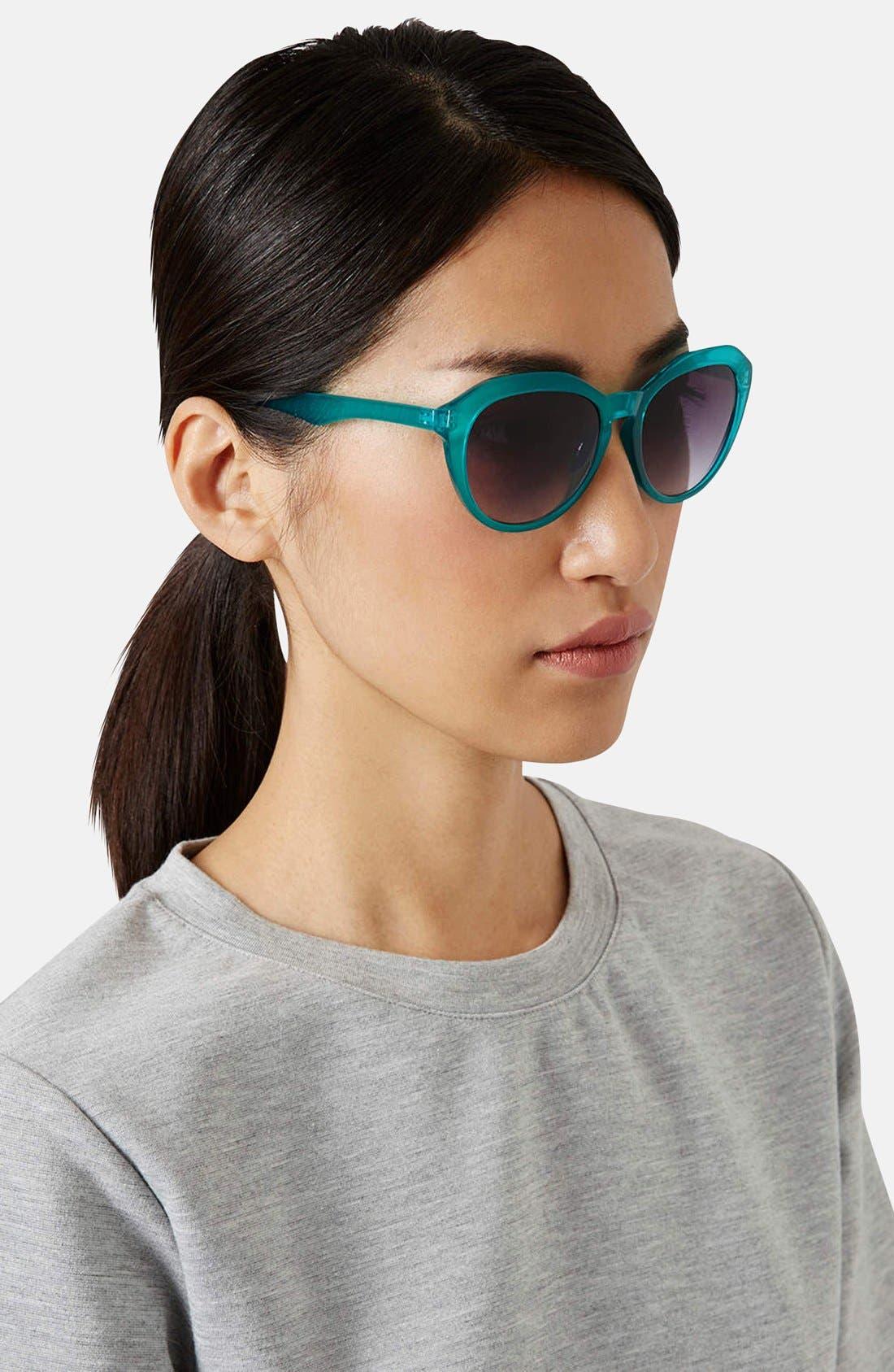 Alternate Image 2  - Topshop 'Serene' 50mm Cat Eye Sunglasses