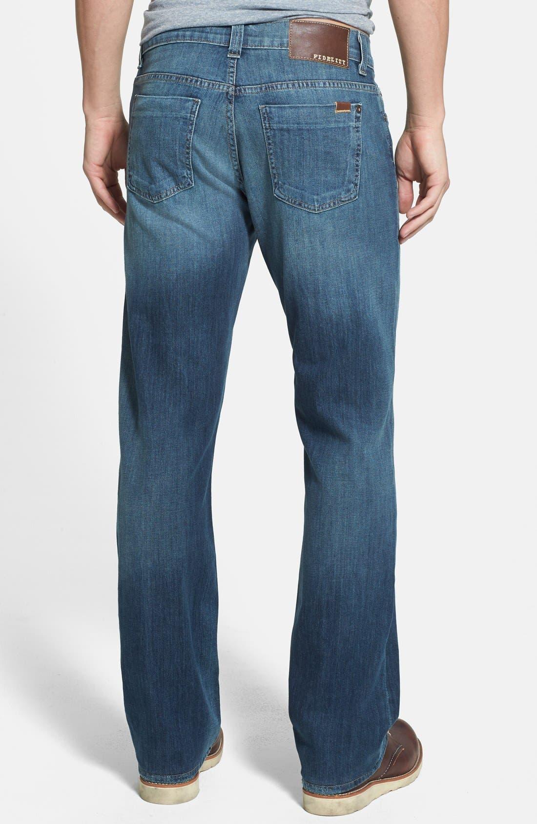 Alternate Image 2  - Fidelity Denim '5011' Straight Leg Jeans (Drifter Blue)