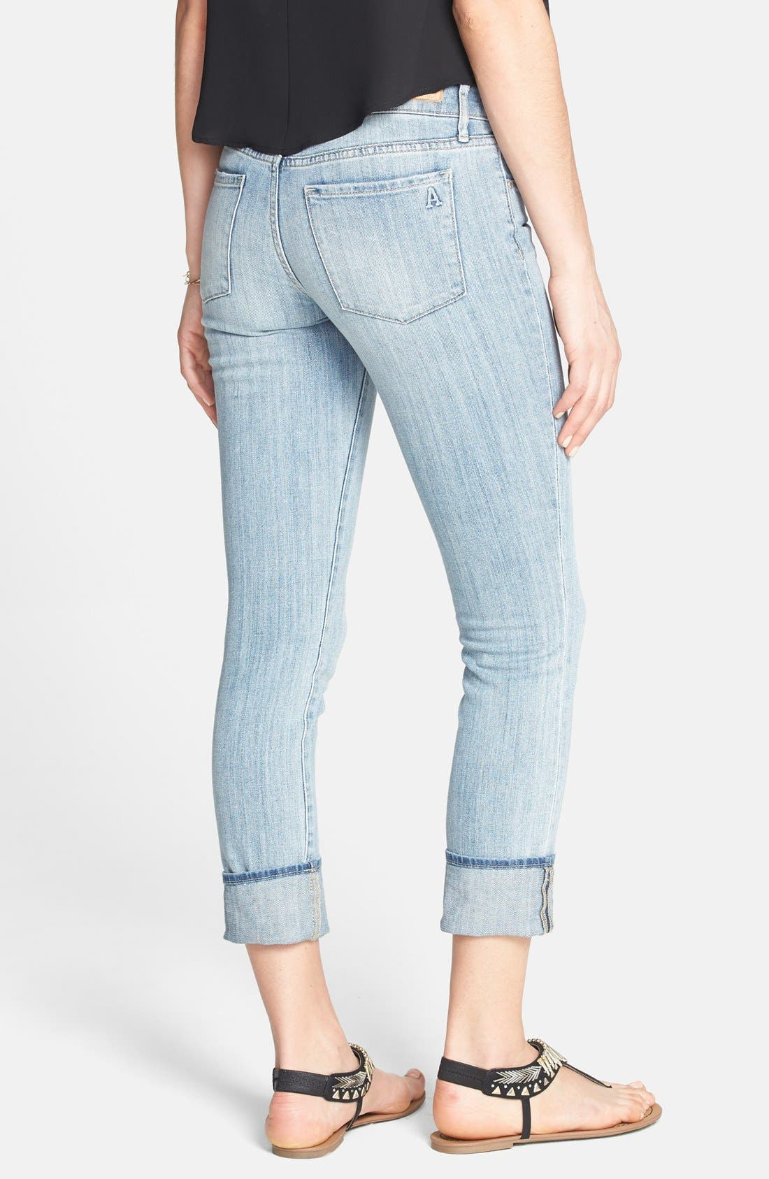 Alternate Image 2  - Articles of Society 'Zoey' Crop Skinny Jeans (Light) (Juniors)