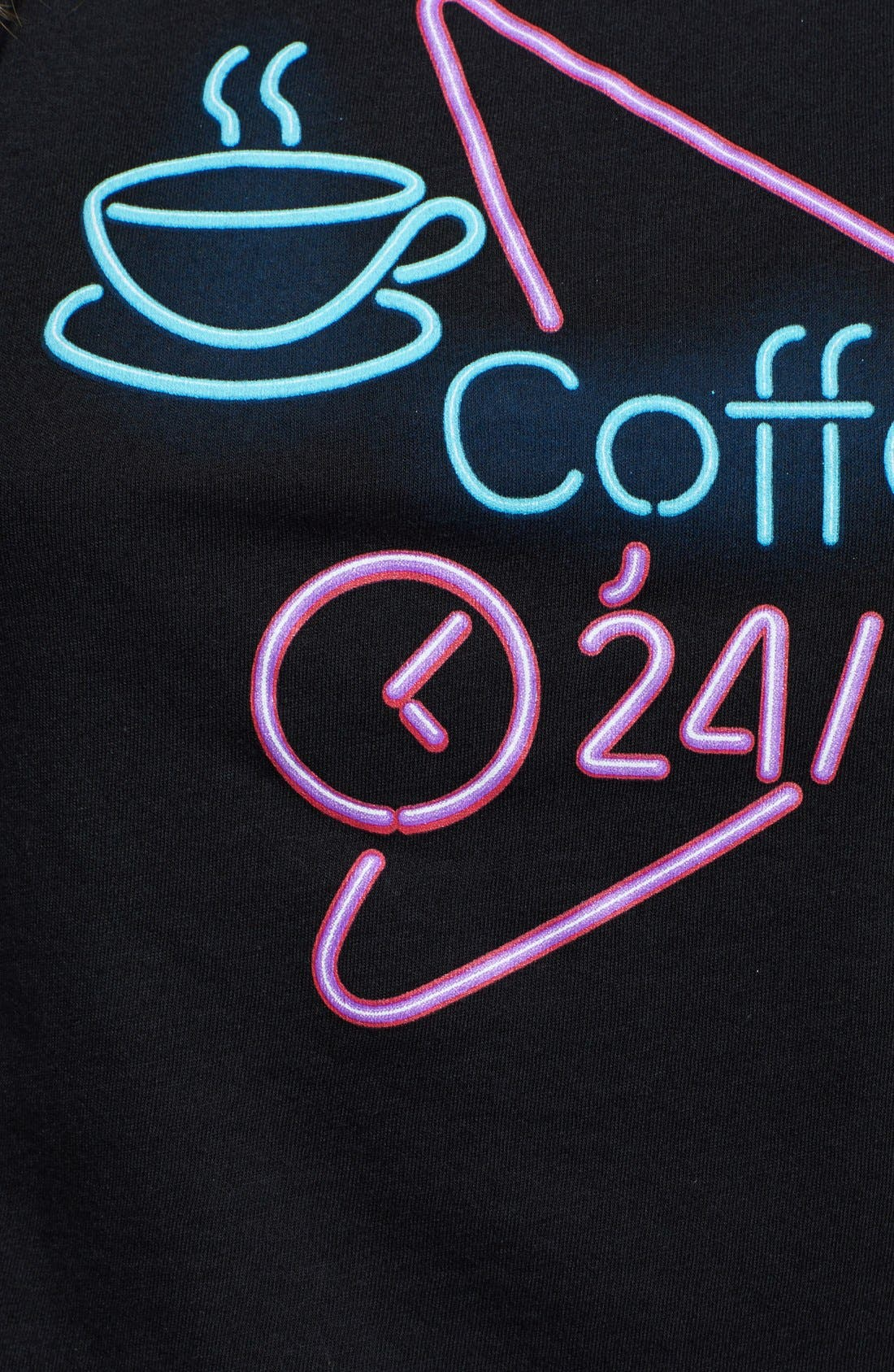 Alternate Image 3  - Madison & Berkeley 'Coffee' Graphic Crop Tee