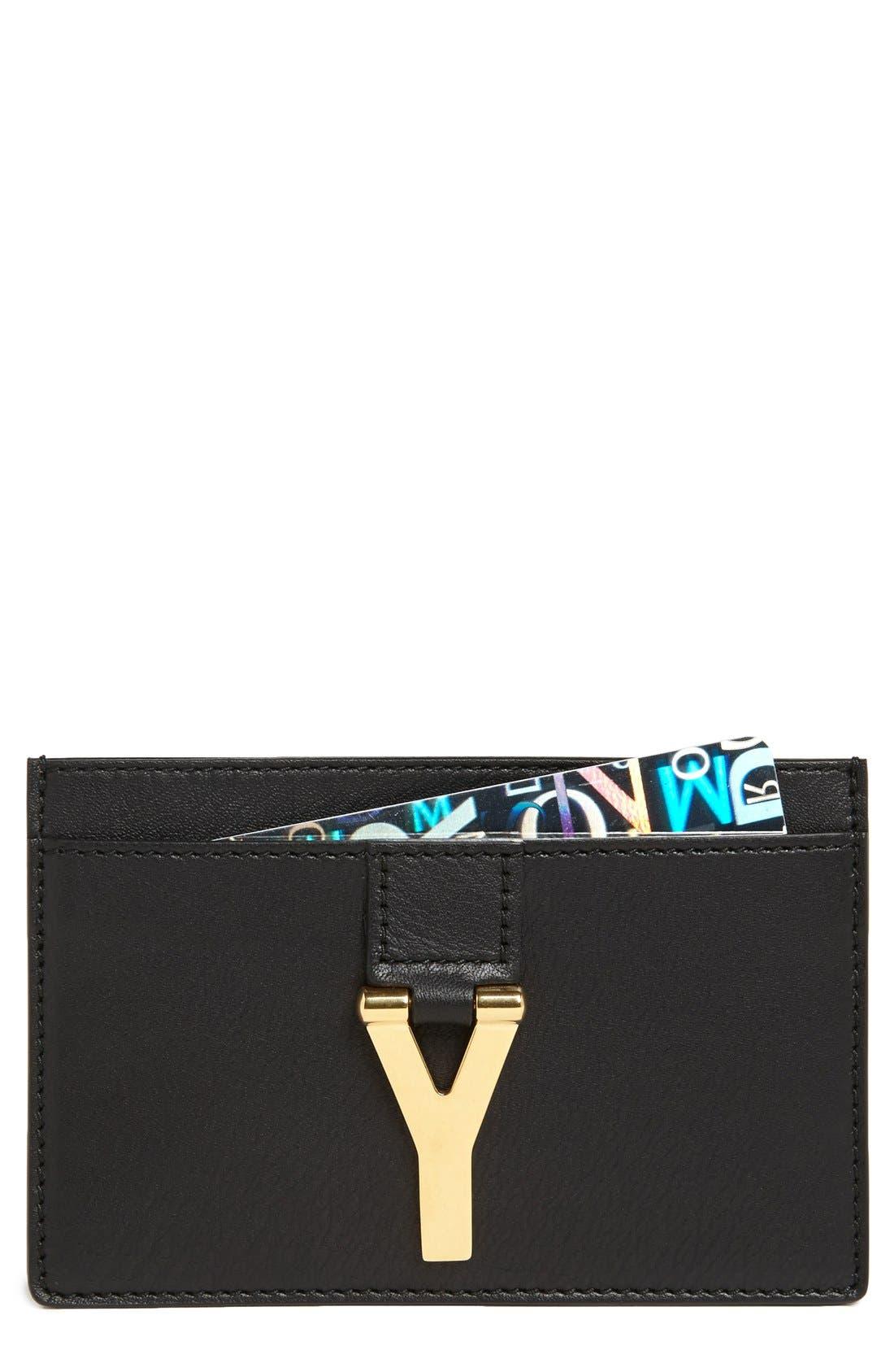 Alternate Image 1 Selected - Saint Laurent Leather Credit Card Case