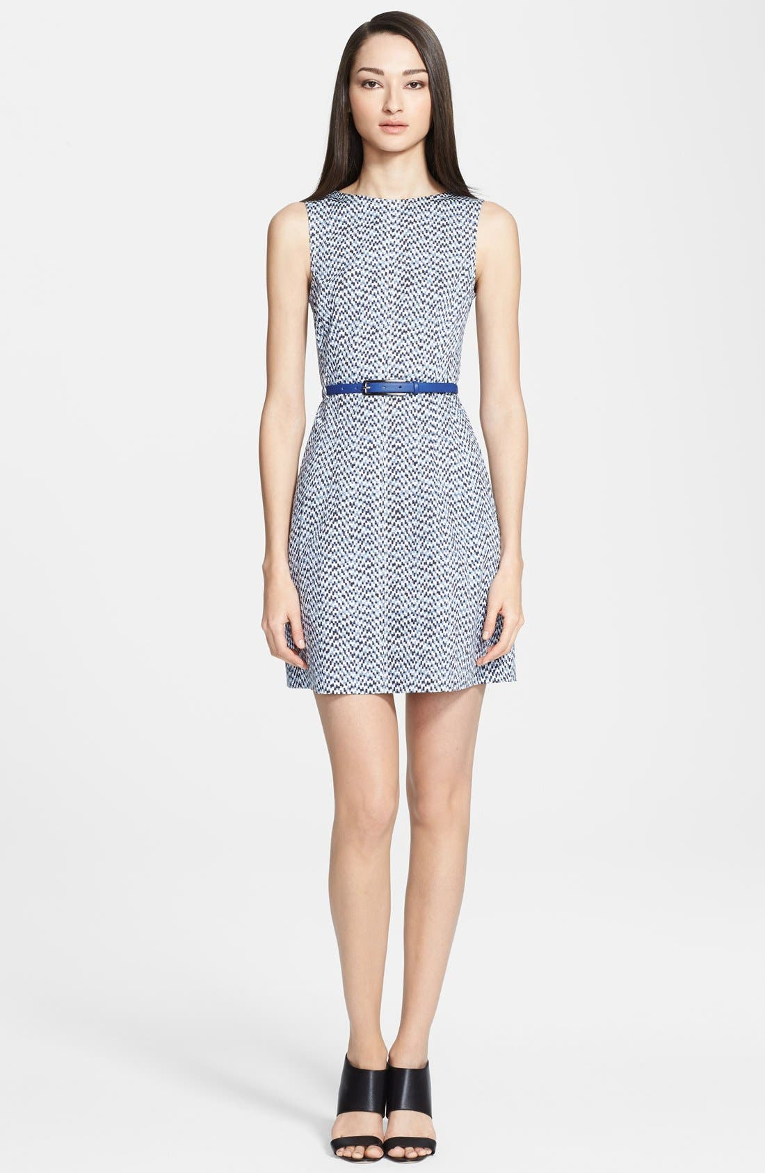 Main Image - Armani Collezioni Belted Mosaic Print Dress