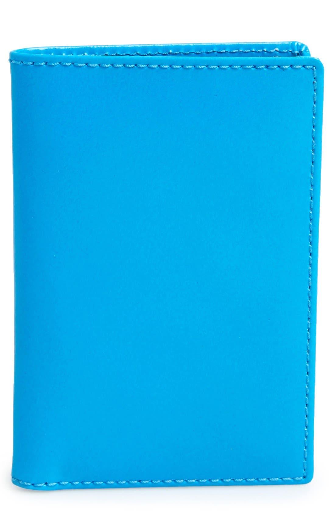 Main Image - Comme des Garçons 'Super Fluo' Leather Card Case