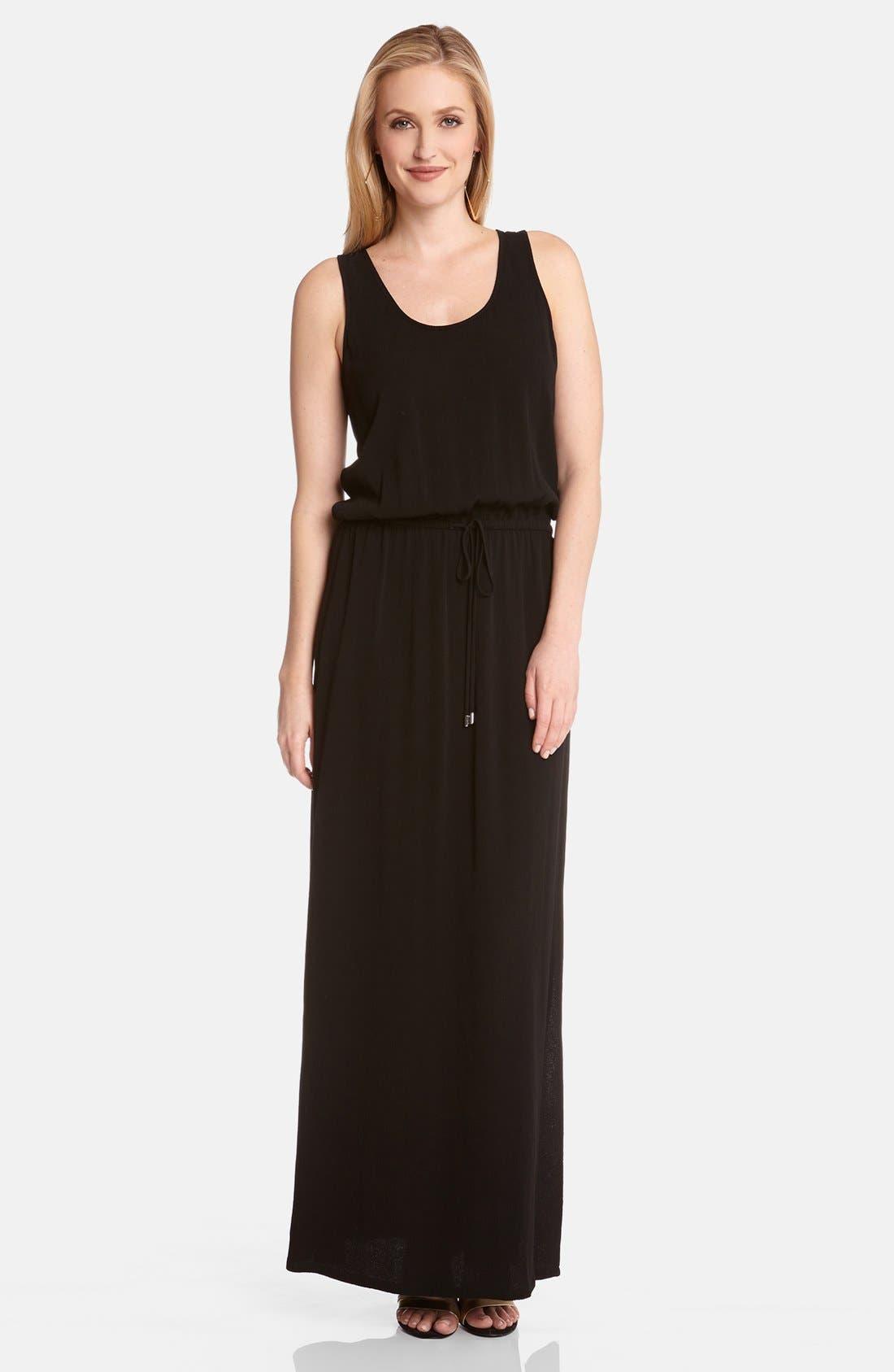 Alternate Image 1 Selected - Karen Kane Drawstring Waist Maxi Dress
