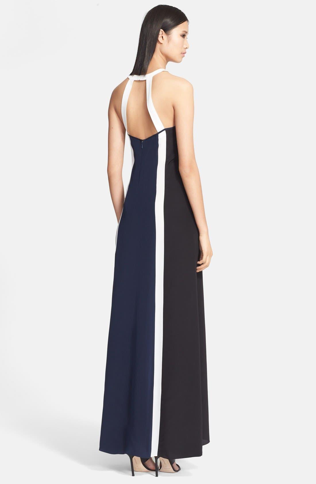 Alternate Image 2  - Jay Godfrey 'Simons' Paneled Silk Maxi Dress