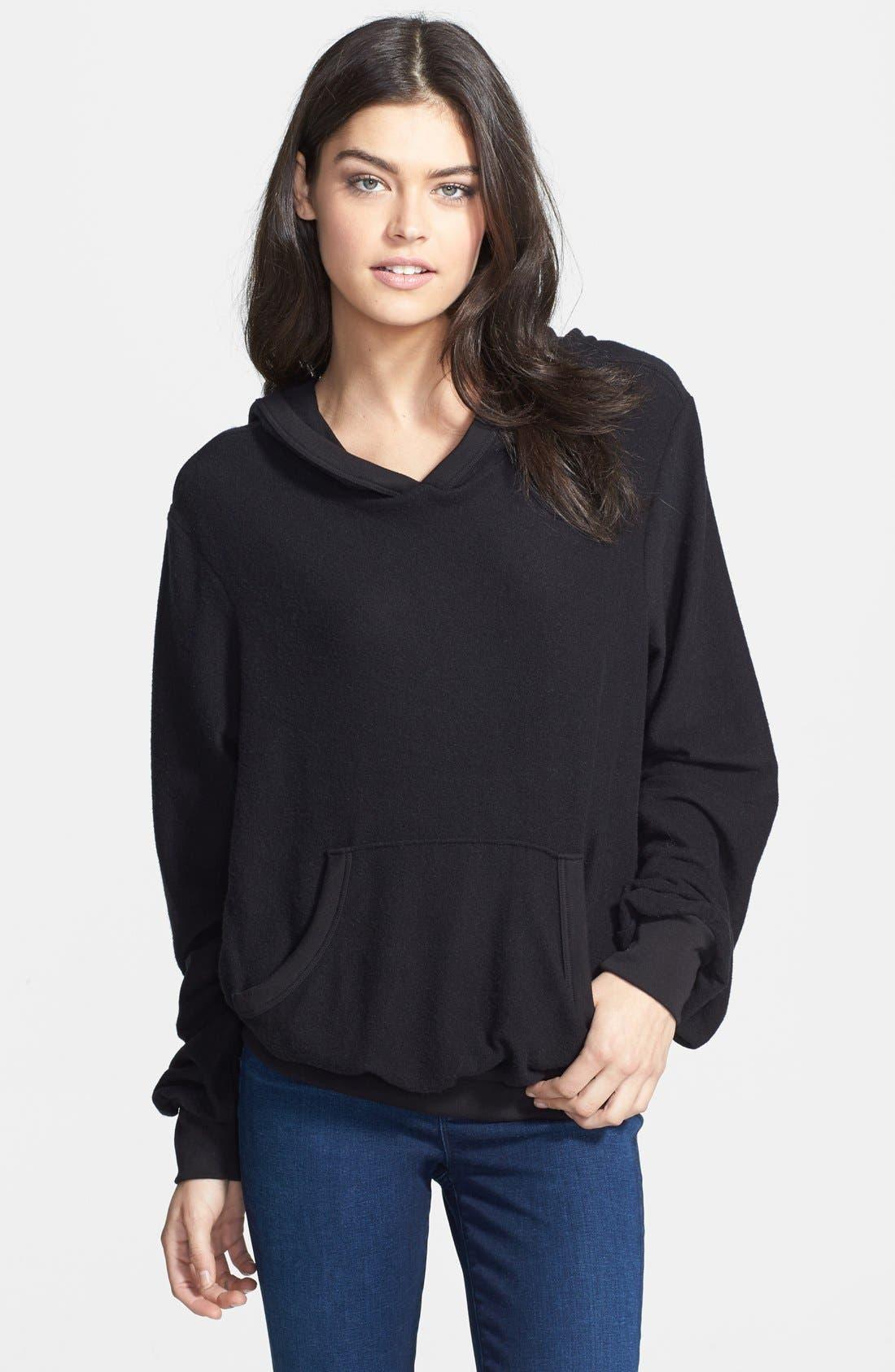 'Malibu' Pullover Hoodie,                         Main,                         color, Jet Black