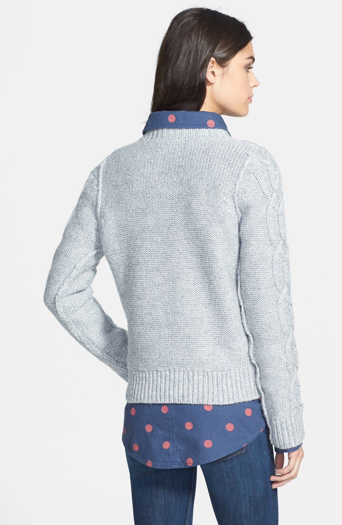 Alternate Image 2  - Hinge® Cable Knit Sweater