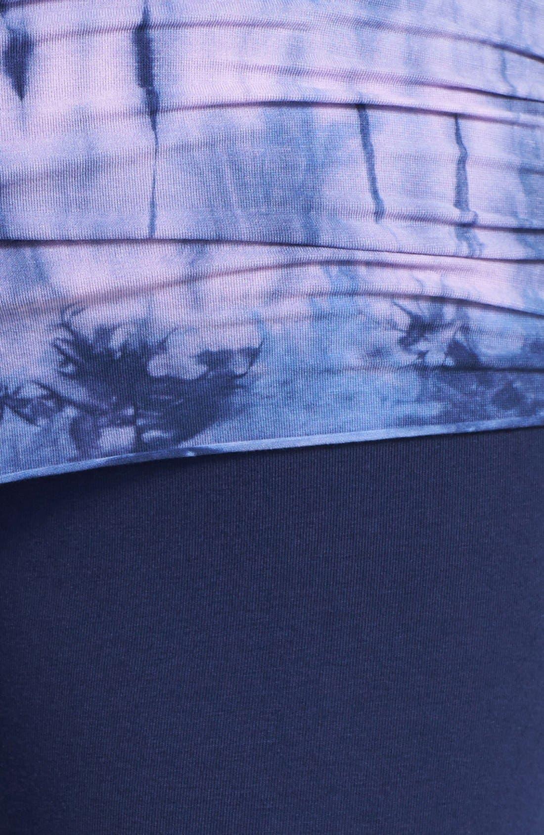Alternate Image 4  - Omgirl 'Nomad - Mad Plaid' Organic Cotton Foldover Leggings