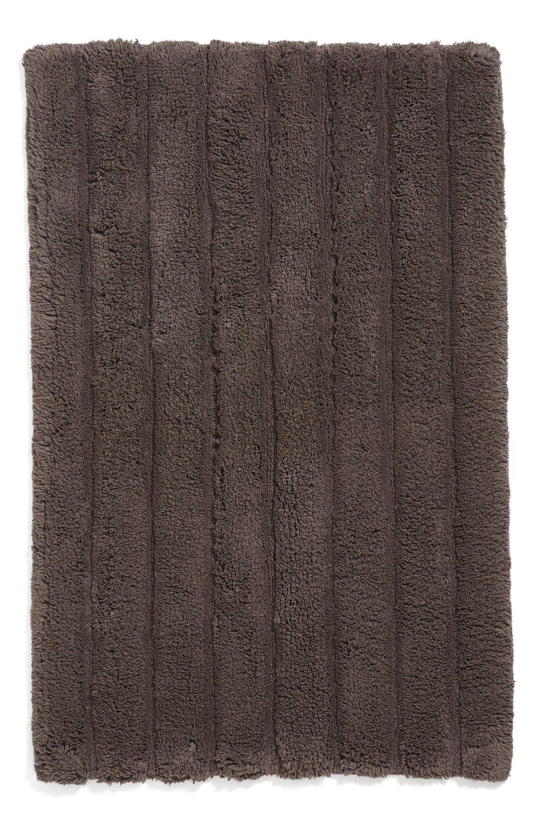Ribbed Velour Bath Rug,                             Main thumbnail 1, color,                             Grey Asphalt