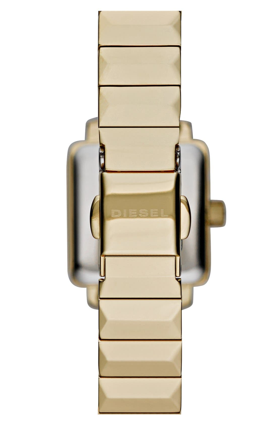Alternate Image 2  - DIESEL® 'Ursula' Square Bracelet Watch, 19mm