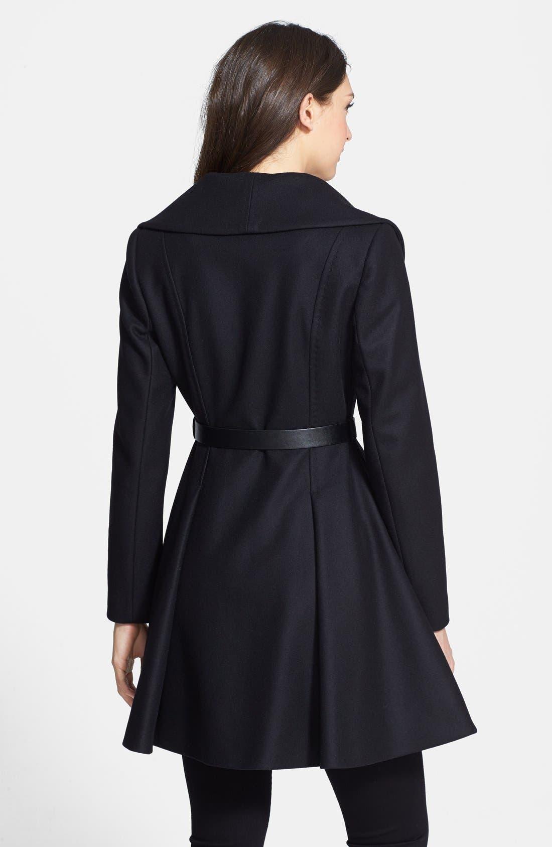 Alternate Image 2  - Ted Baker London Belted Flare Skirt Wool & Cashmere Blend Coat