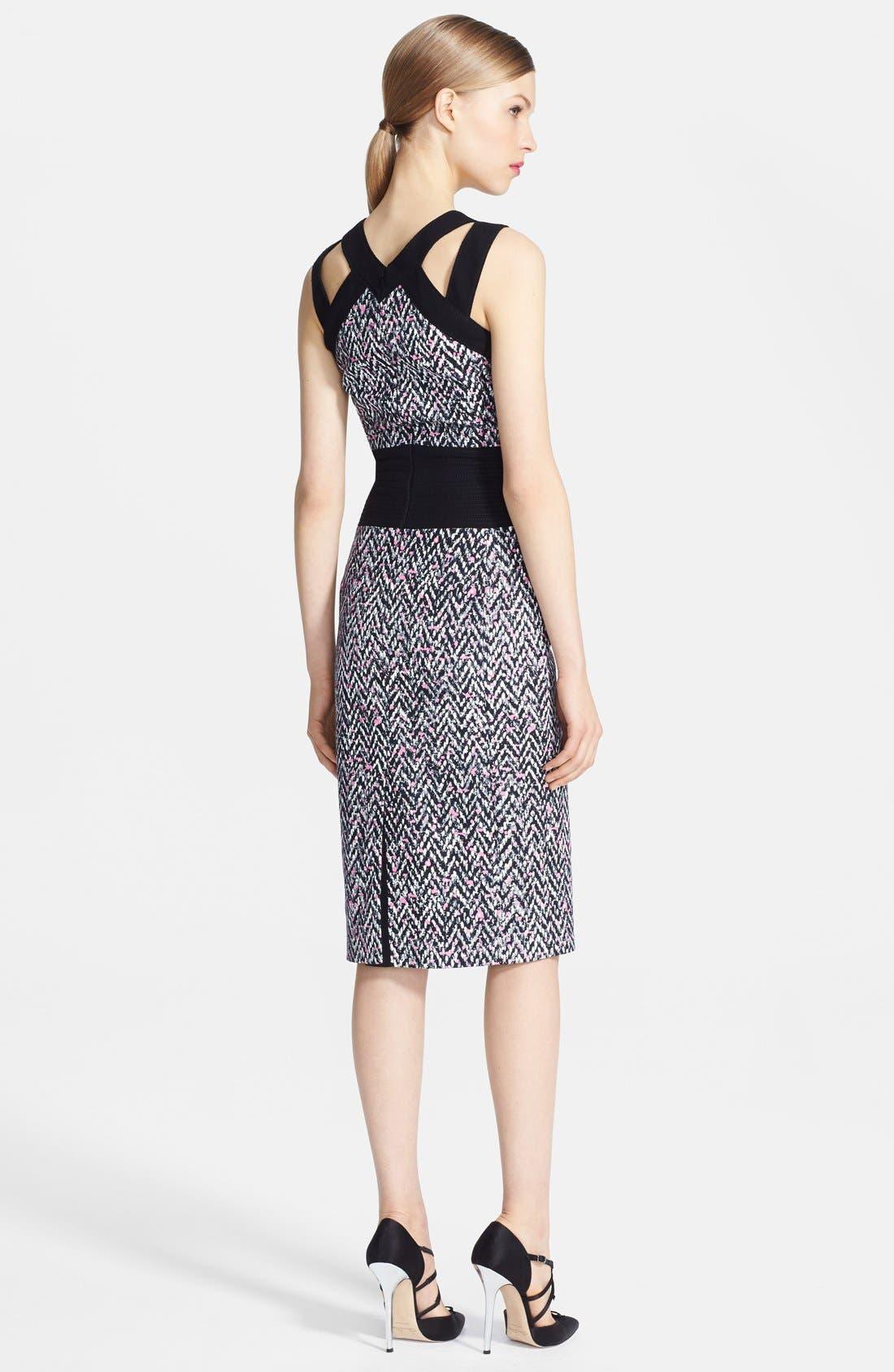 Alternate Image 2  - Oscar de la Renta Tweed Pencil Dress