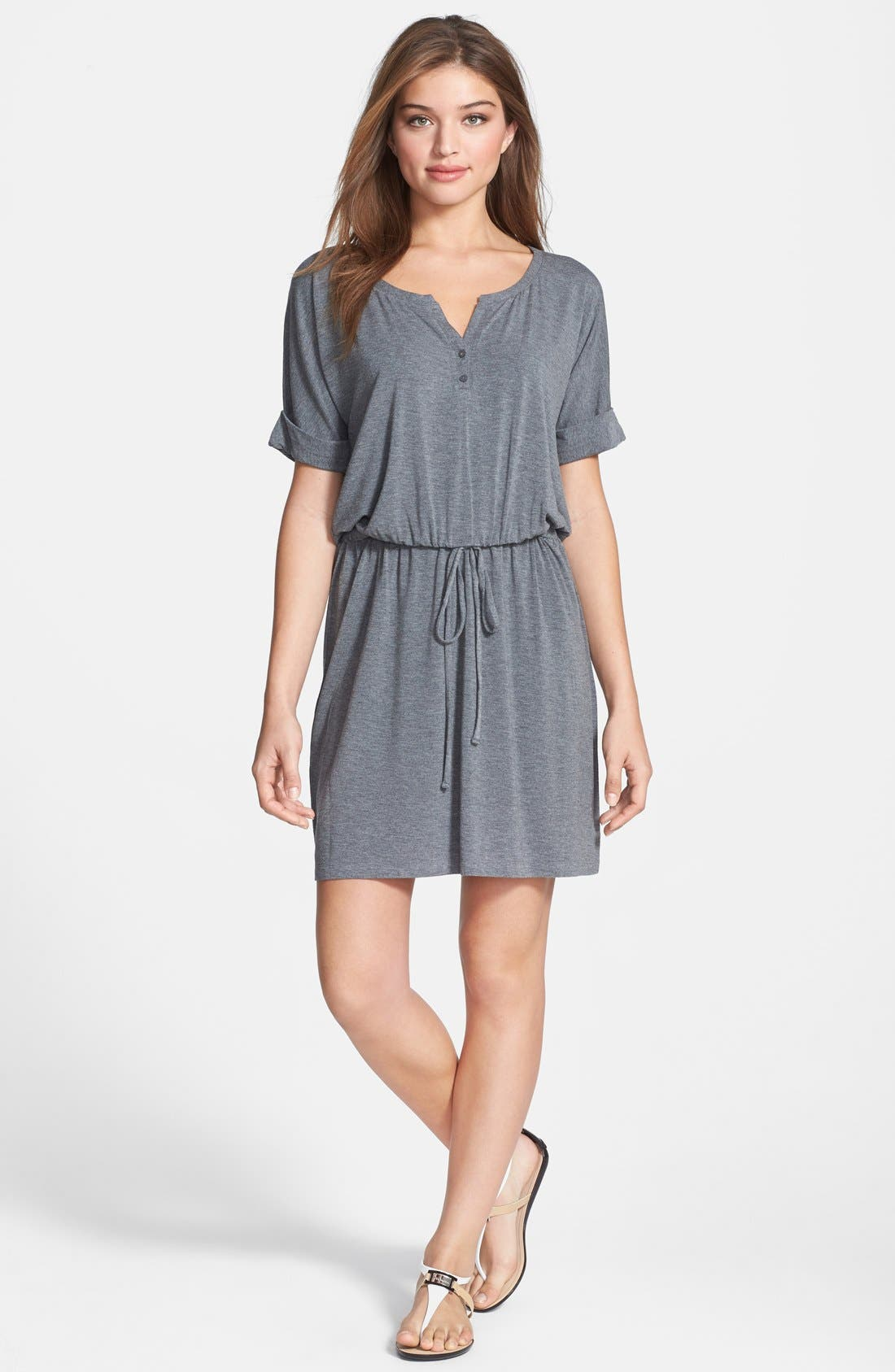 Main Image - Caslon® Split Neck Dolman Sleeve Dress