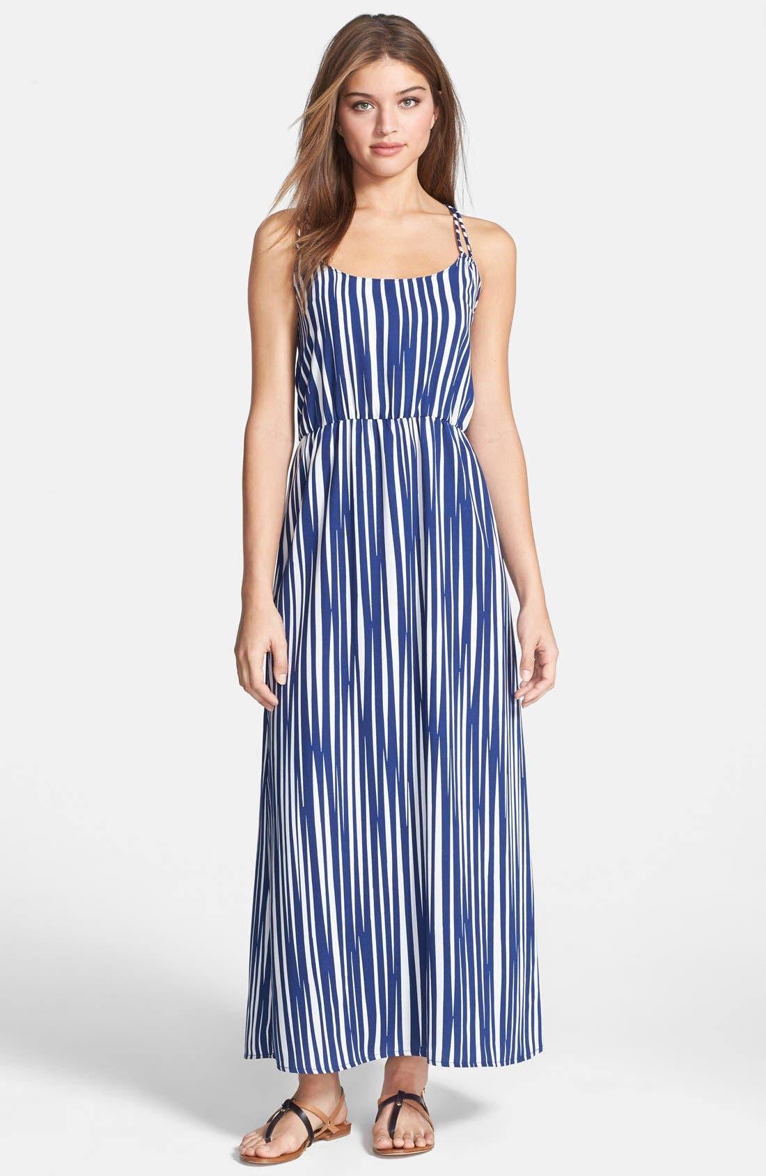 Alternate Image 1 Selected - Dex Stripe Maxi Dress