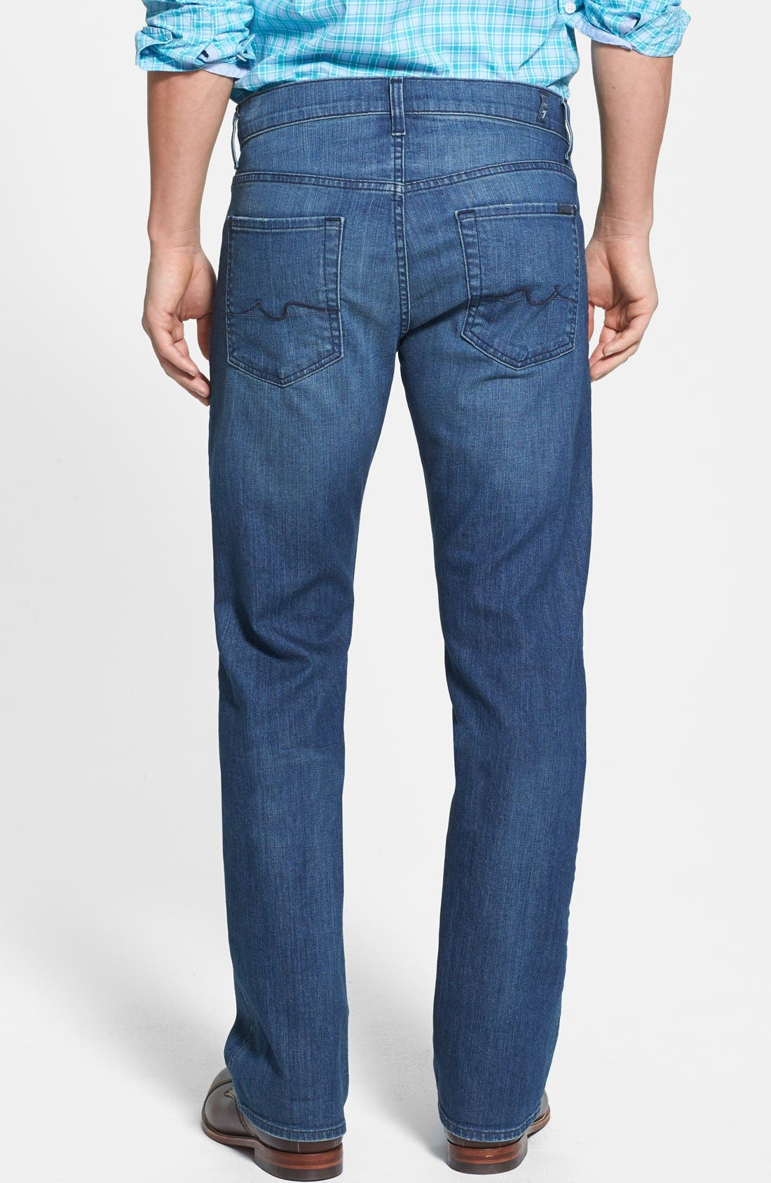 Alternate Image 2  - 7 For All Mankind® 'Carsen' Easy Straight Leg Jeans (Interbay Indigo)