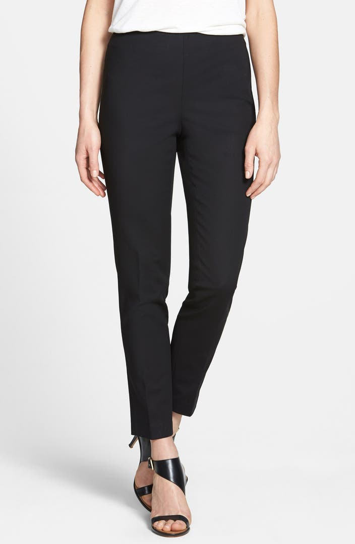 Vince Camuto Side Zip Double Weave Stretch Cotton Pants