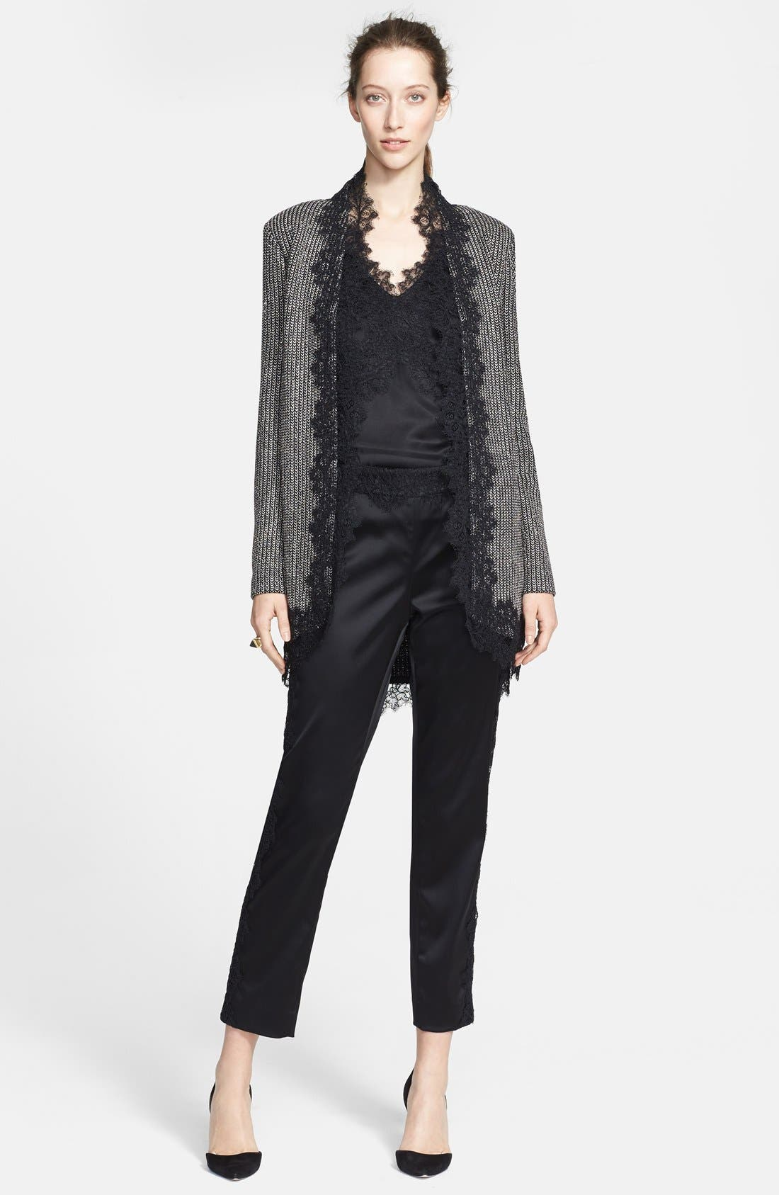 Alternate Image 4  - St. John Collection Lace Trim Metallic Micro Knit Jacket