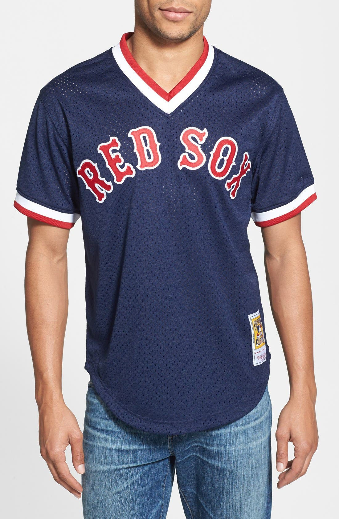 Main Image - Mitchell & Ness 'Ted Williams - Boston Red Sox' Authentic Mesh BP Jersey