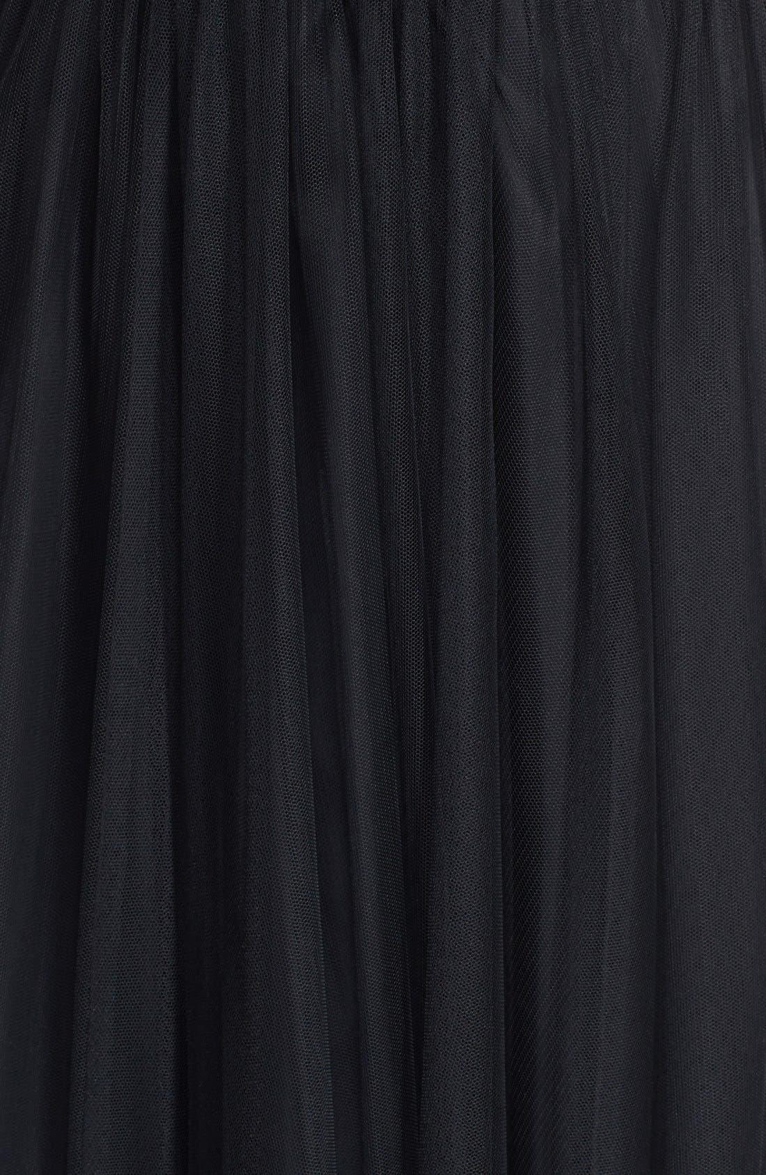 Alternate Image 3  - Aidan Mattox Embroidered Bodice Mesh Ballgown