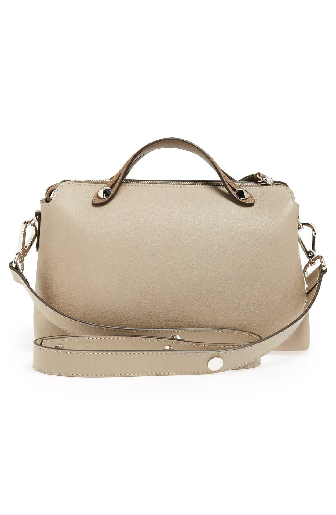 'Bauletto Piccolo' Leather Crossbody Bag,                             Alternate thumbnail 4, color,                             Turtledv Sepia Palladuim