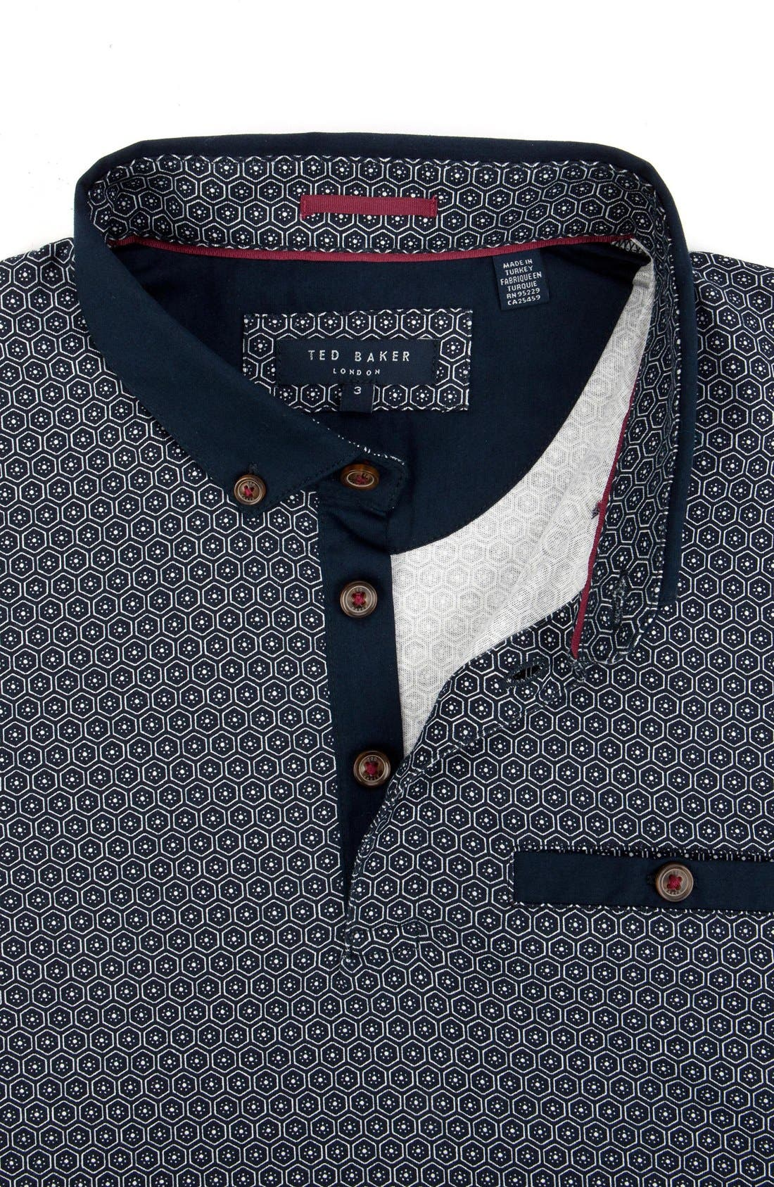 Alternate Image 4  - Ted Baker London 'Elwhite' Graphic Print Polo