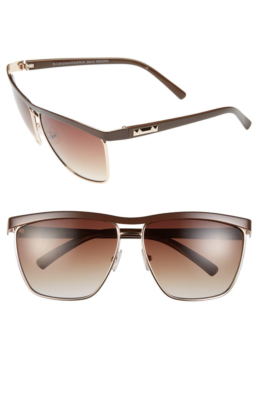 Main Image - BCBGMAXAZRIA 62mm Sunglasses