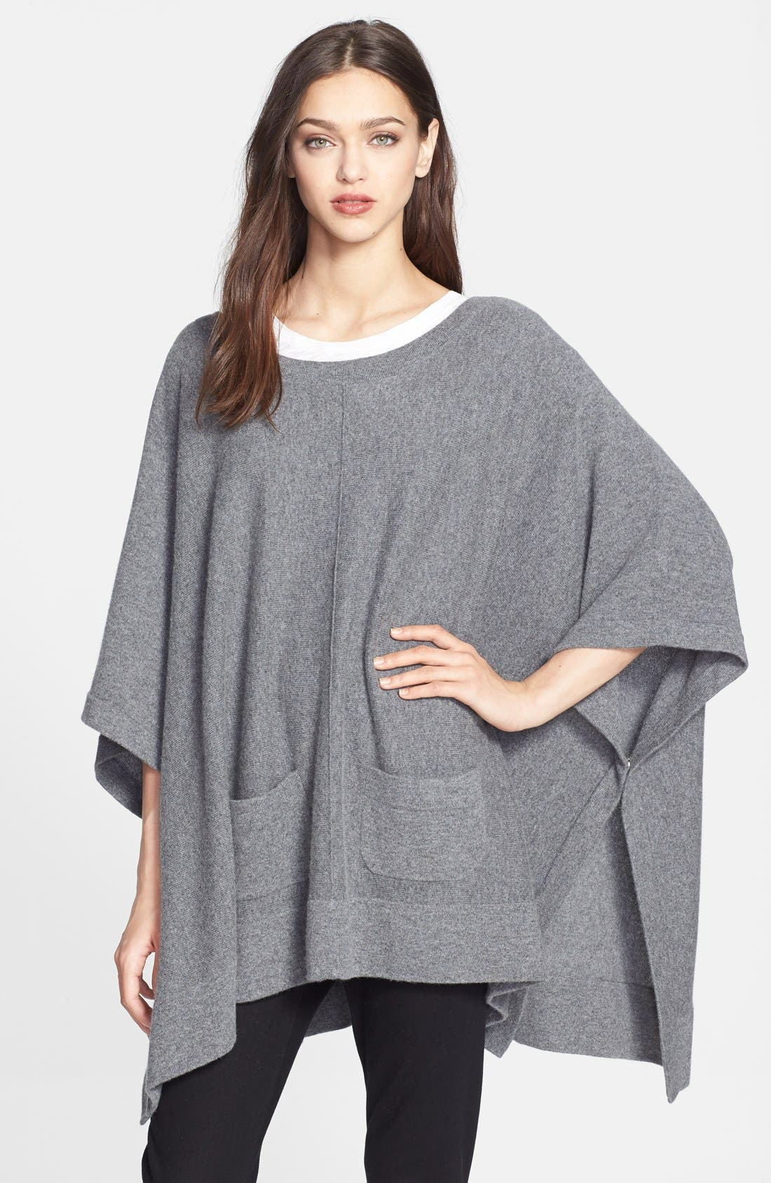 Alternate Image 1 Selected - Nordstrom Collection Cashmere Poncho