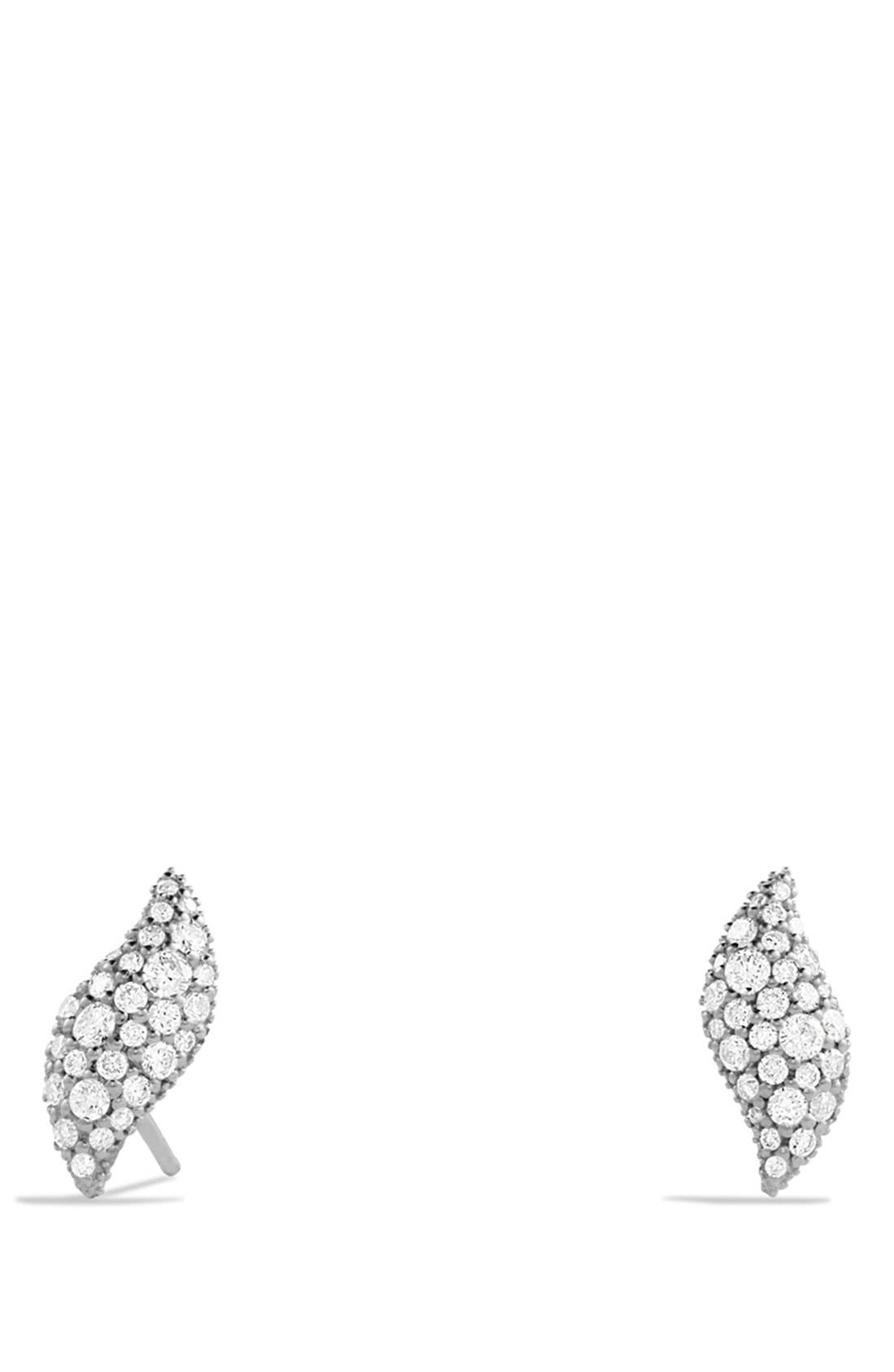 'Hampton Cable' Earrings with Diamonds,                             Main thumbnail 1, color,                             Diamond