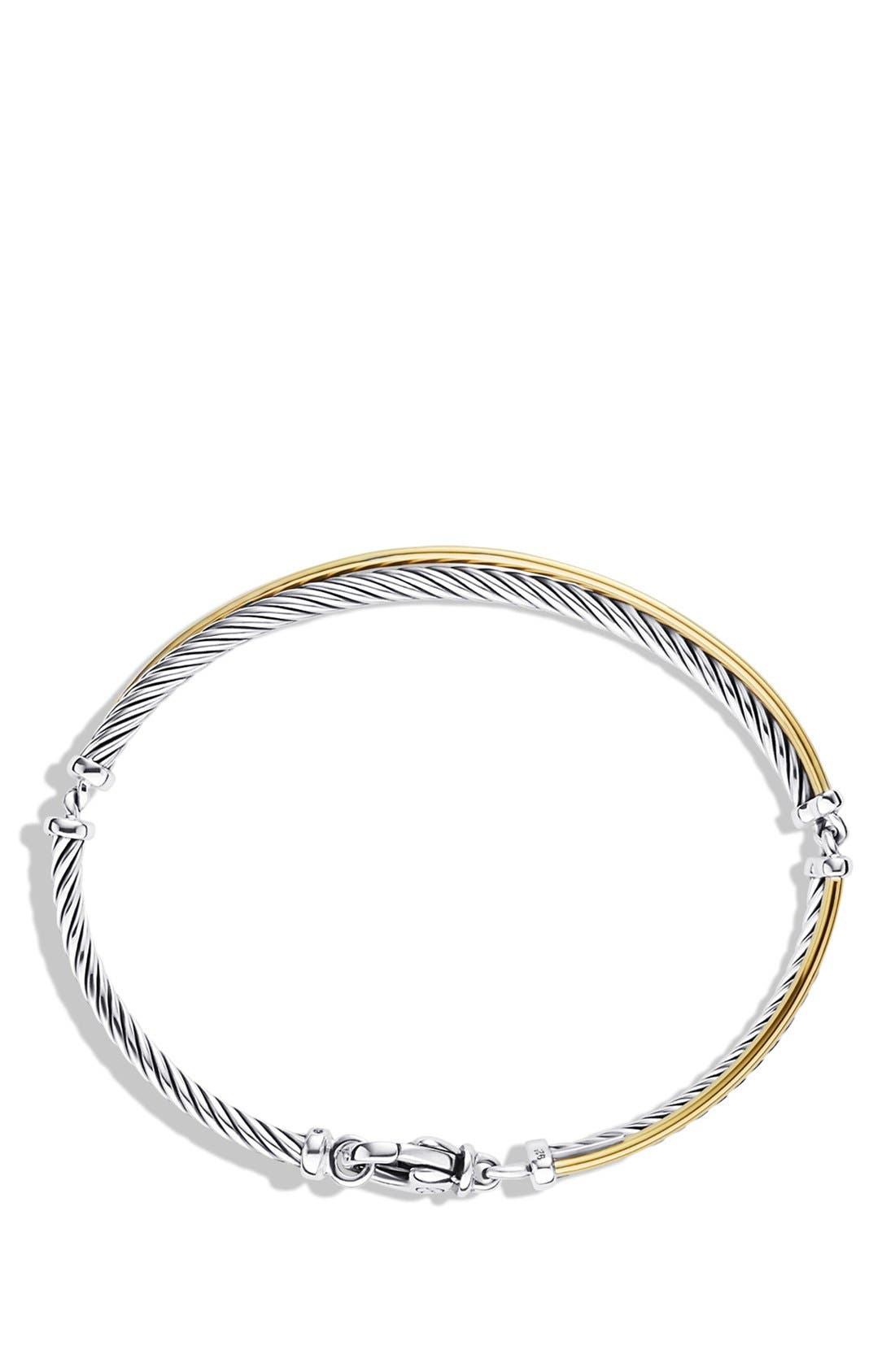'Crossover' Bracelet with Gold,                             Alternate thumbnail 2, color,                             Two Tone