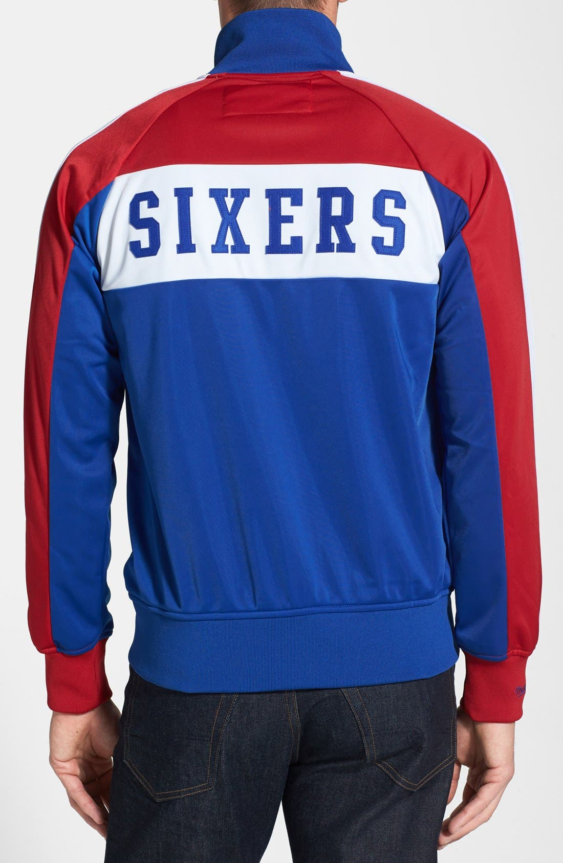 Alternate Image 2  - Mitchell & Ness 'Philadelphia 76ers - Home Stand' Tailored Fit Track Jacket