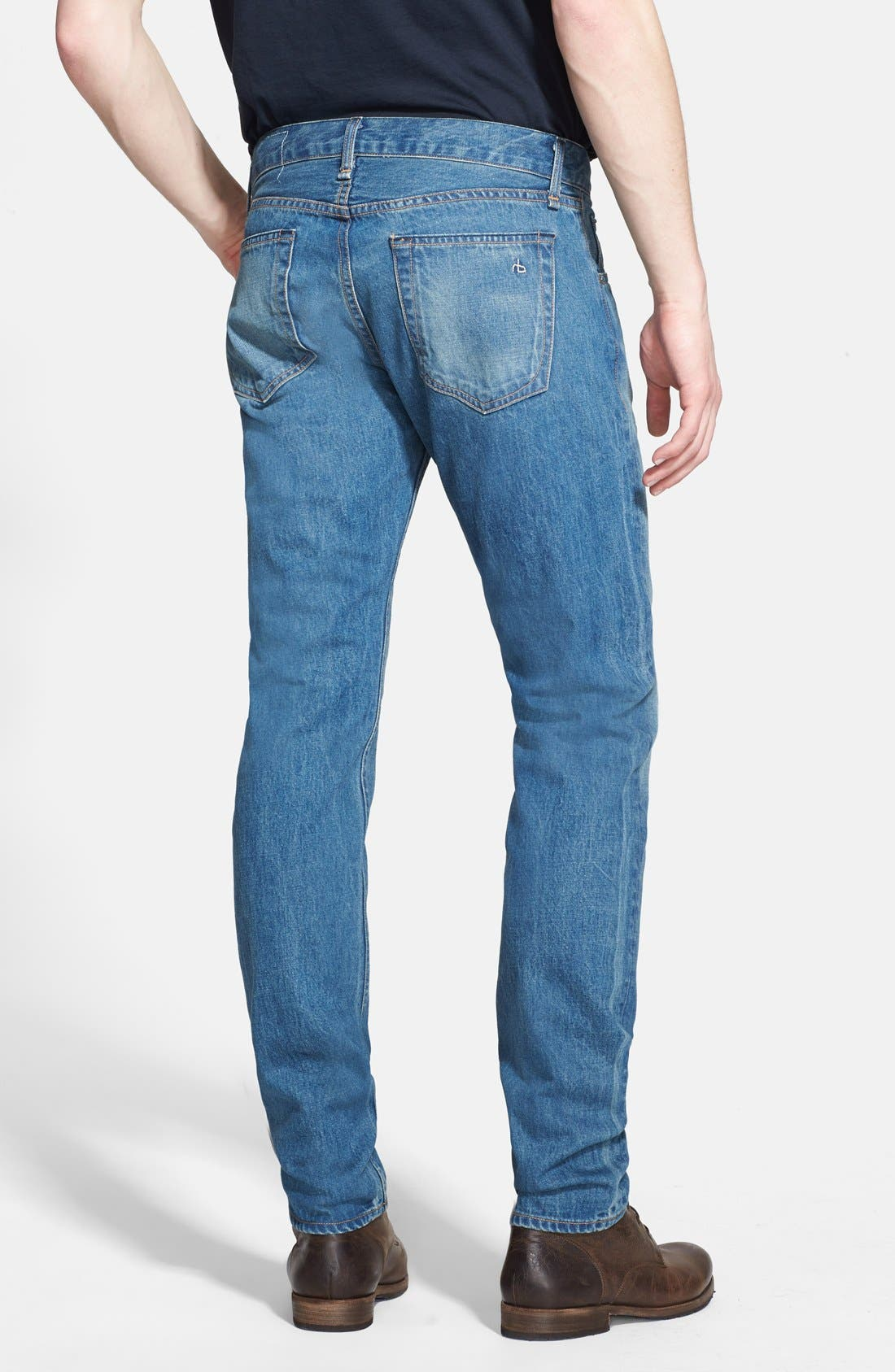 Alternate Image 2  - rag & bone 'RB23X' Slim Fit Jeans (Coastline Blue)