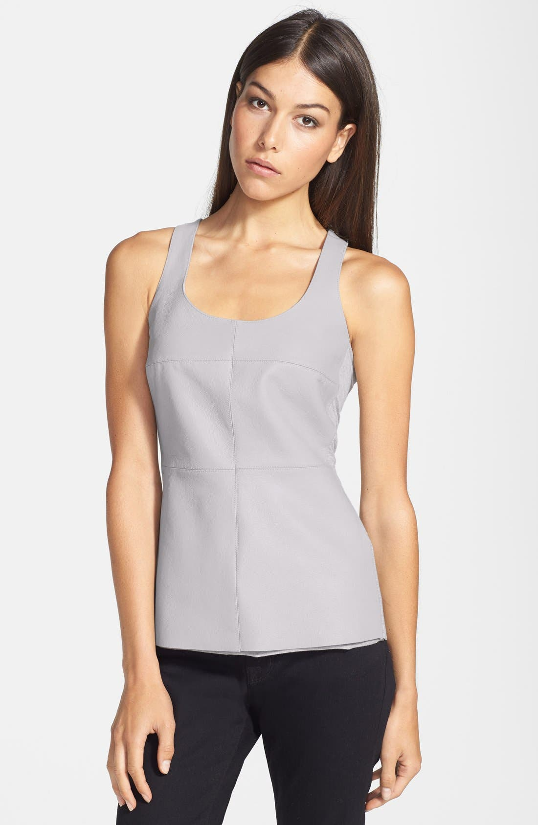 Alternate Image 1 Selected - Bailey 44 'Cosmopolitan' Leather Front Racerback Tank