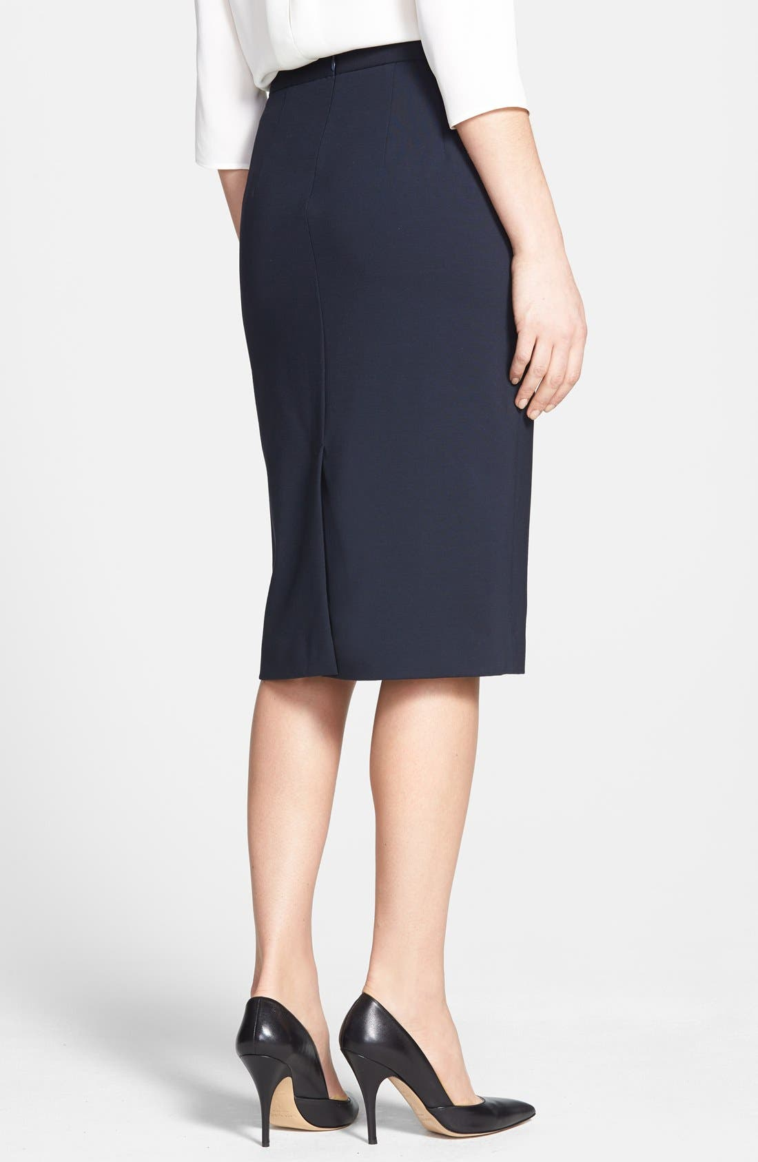 'Super' Pencil Skirt,                             Alternate thumbnail 2, color,                             Navy
