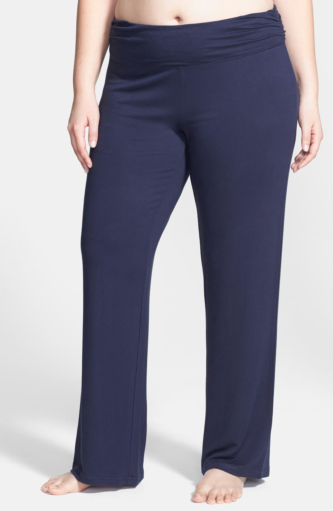 Alternate Image 1 Selected - Shimera Ruched Waist Lounge Pants (Plus Size)