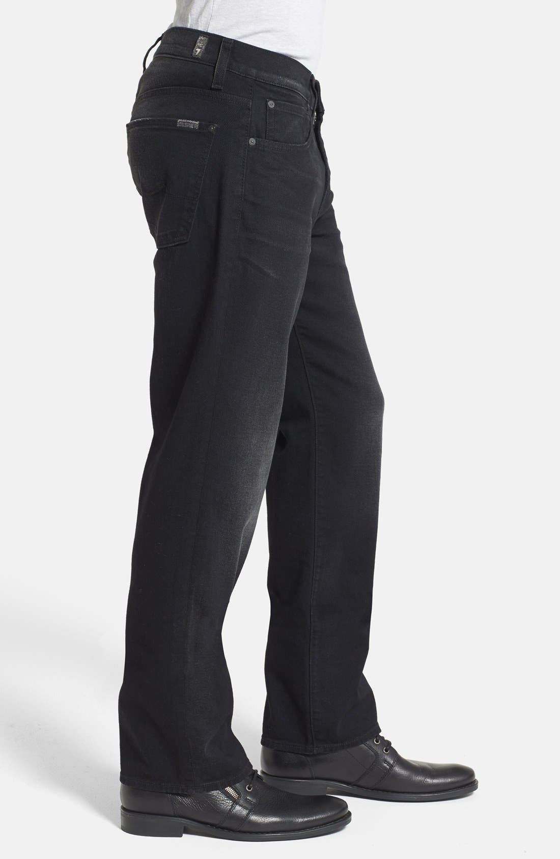 Alternate Image 3  - 7 For All Mankind® 'Austyn' Relaxed Straight Leg Jeans (Dark West Edge) (Online Only)